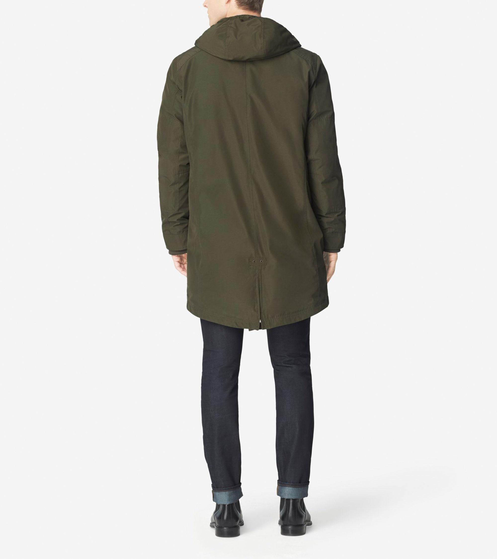 Cole haan Down Military Parka in Blue for Men