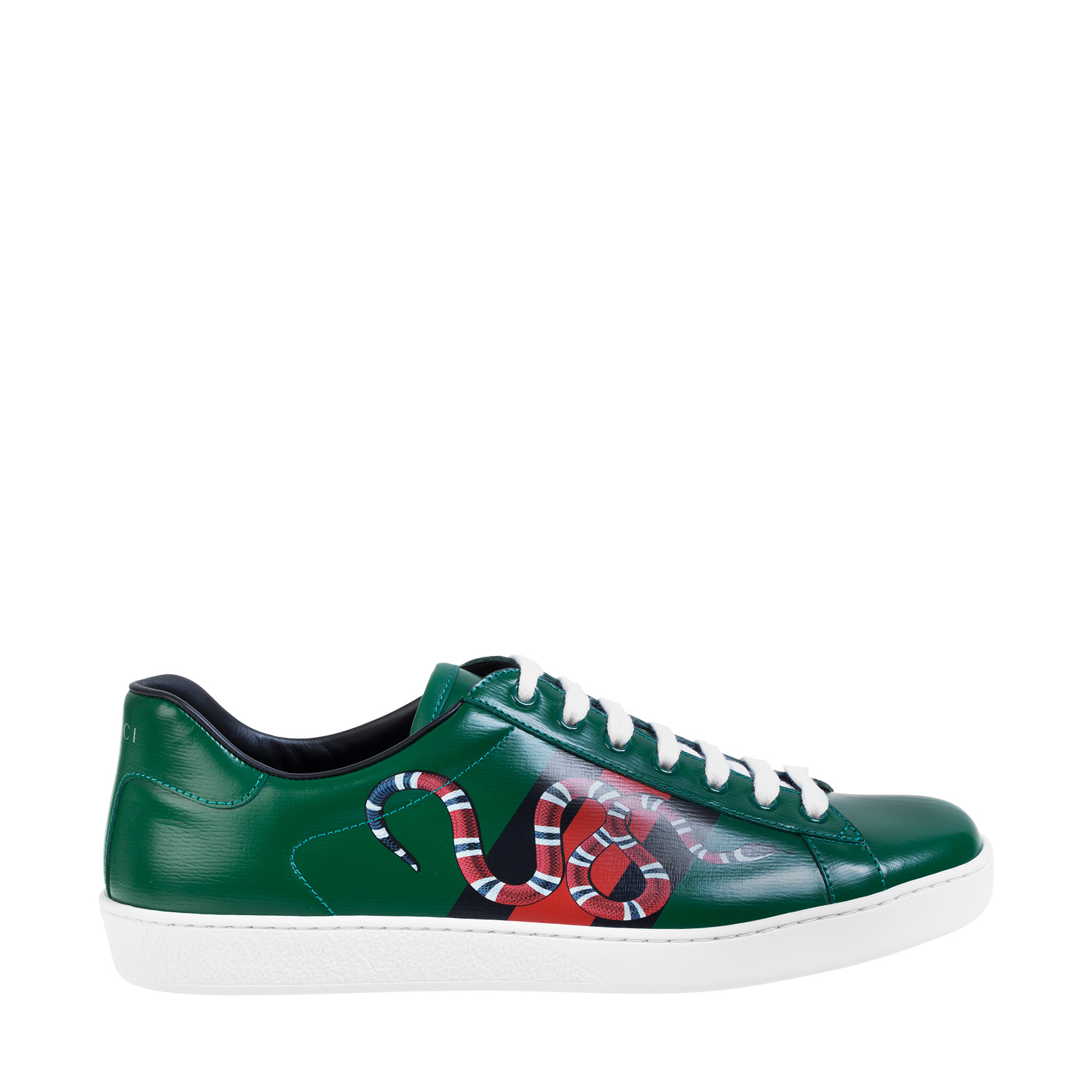 """Gucci """"web And Snake"""" Trainers in Green for Men (MULTI)"""