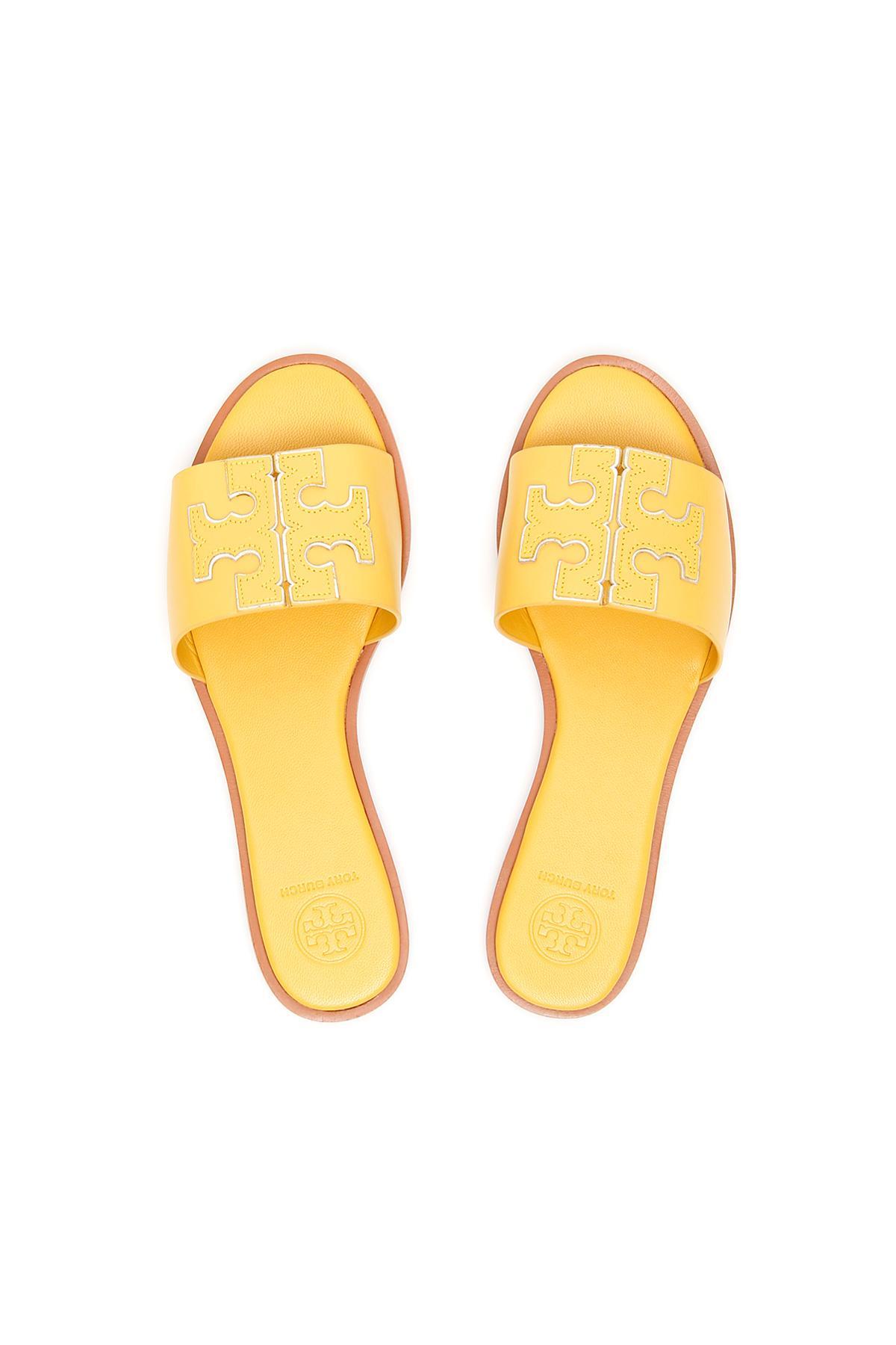 tory burch ines slide yellow