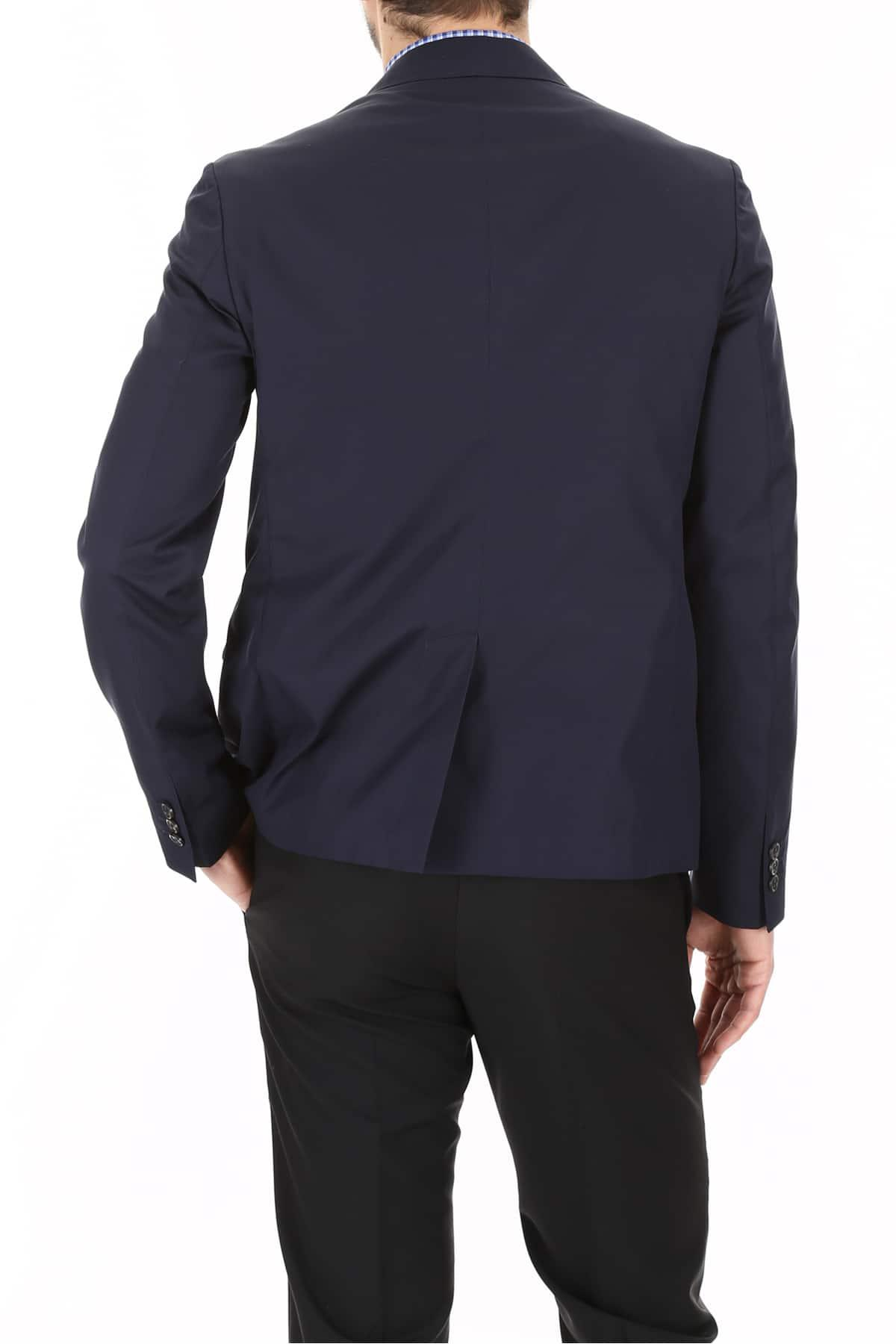 Prada Linea Rossa Cotton Poplin Blazer in Blue for Men