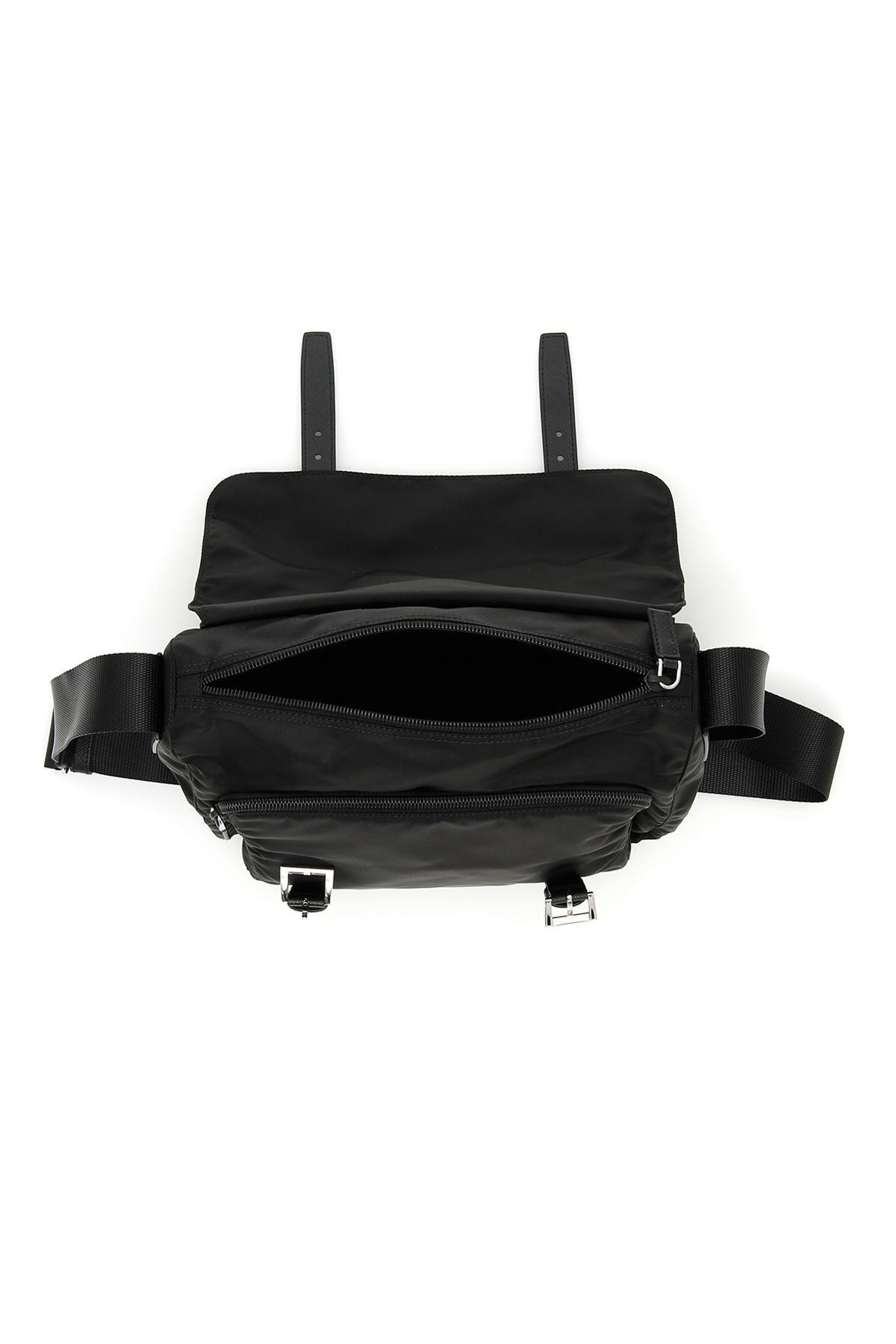 970b3b920e40 ... australia prada black nylon messenger bag lyst. view fullscreen 3e732  66aac