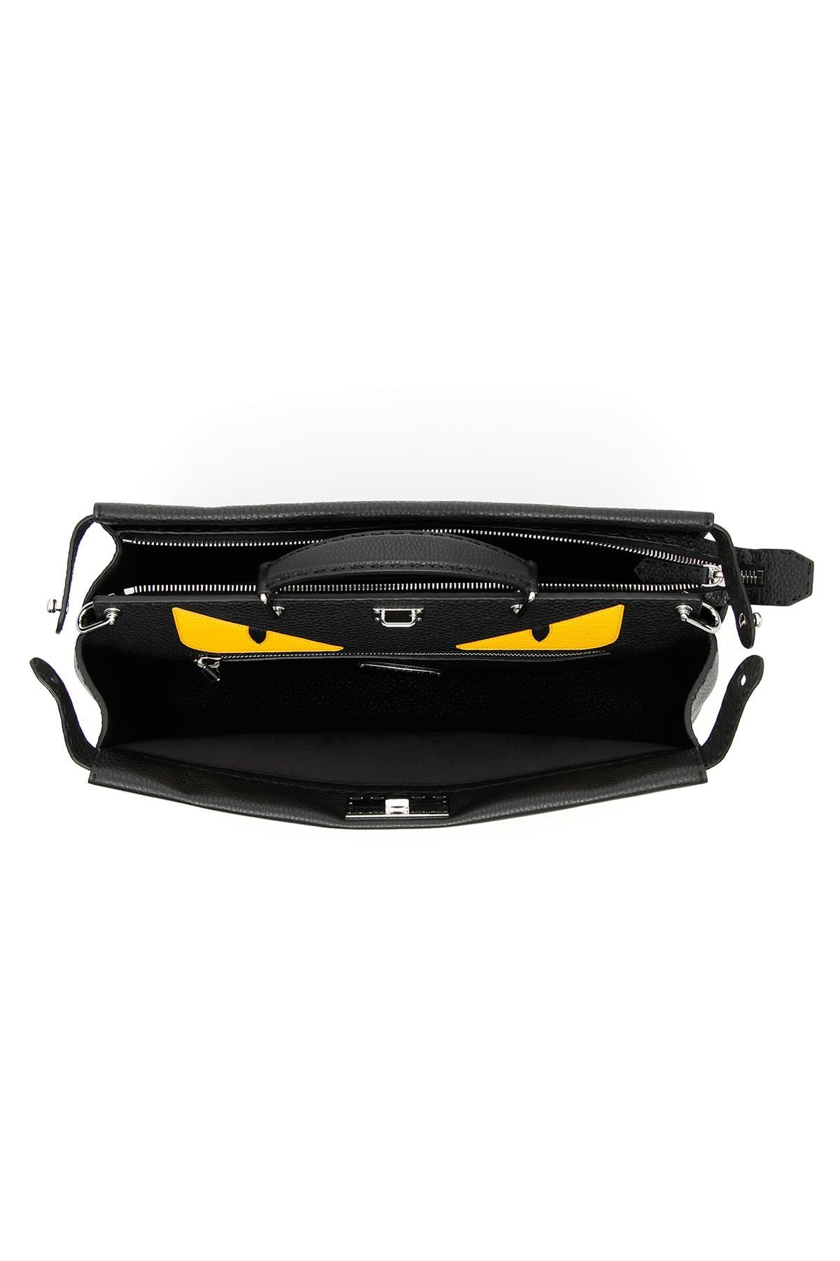 ff00662a022 Fendi Roman Leather Peekaboo Selleria Bag in Black for Men - Lyst
