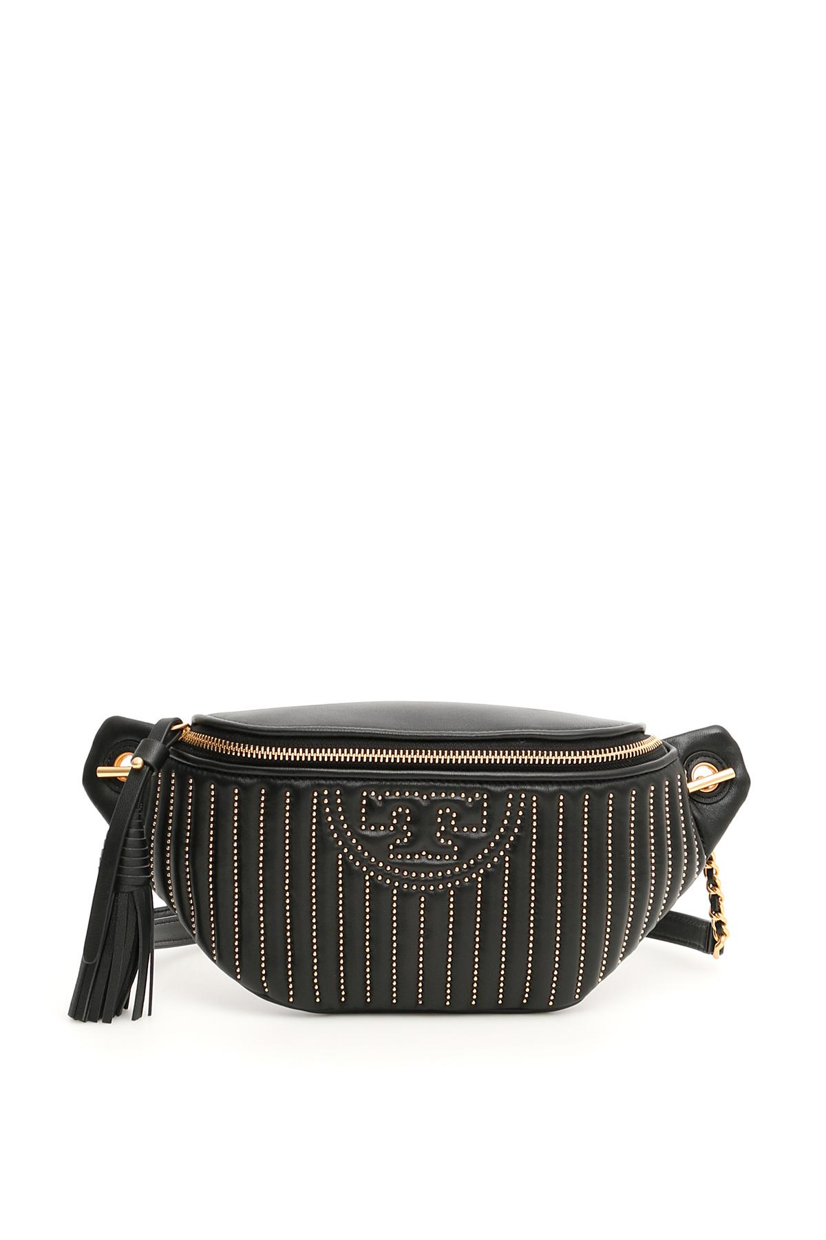 749b7382e58 Lyst - Tory Burch Fleming Quilted Beltbag in Black