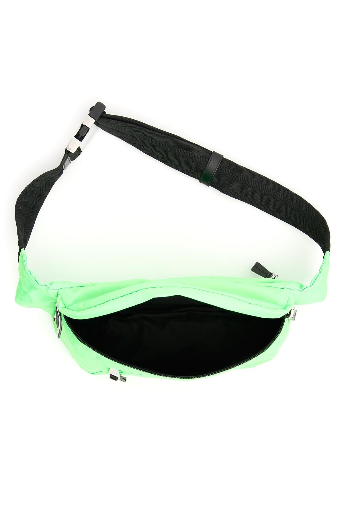 08baaf8fb6e5db Prada - Green Nylon Beltbag With Logo for Men - Lyst. View fullscreen