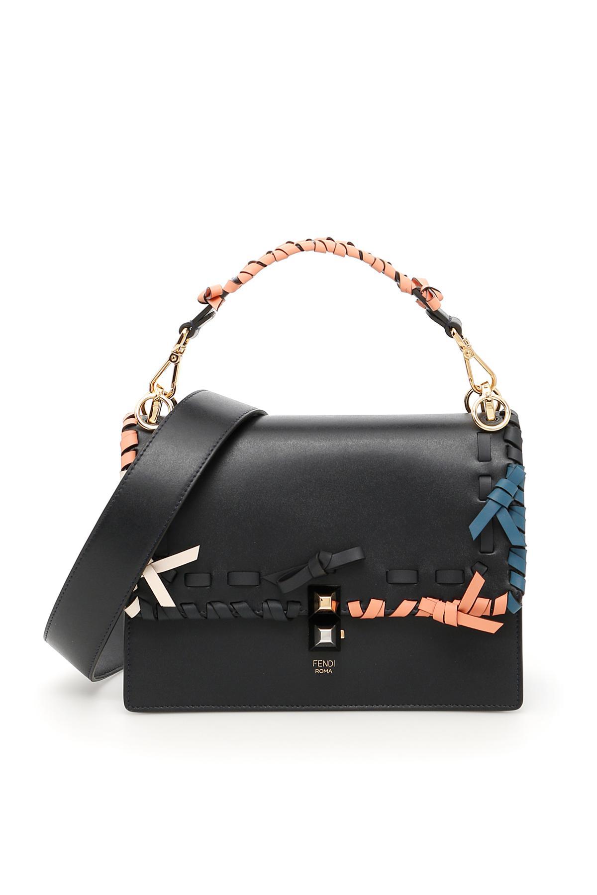 9175e5bf8303 Lyst - Fendi Kan I Bag in Black