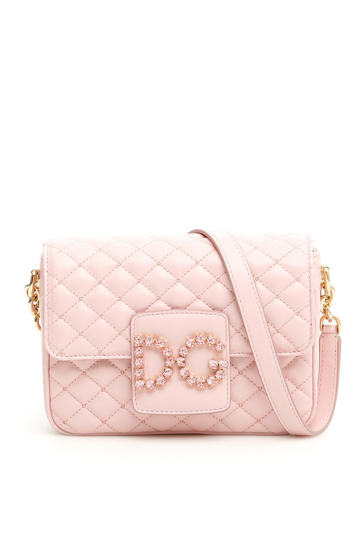 7bd574aff9 Lyst - Dolce   Gabbana Matelassé Dg Millennials Mini Bag in Pink