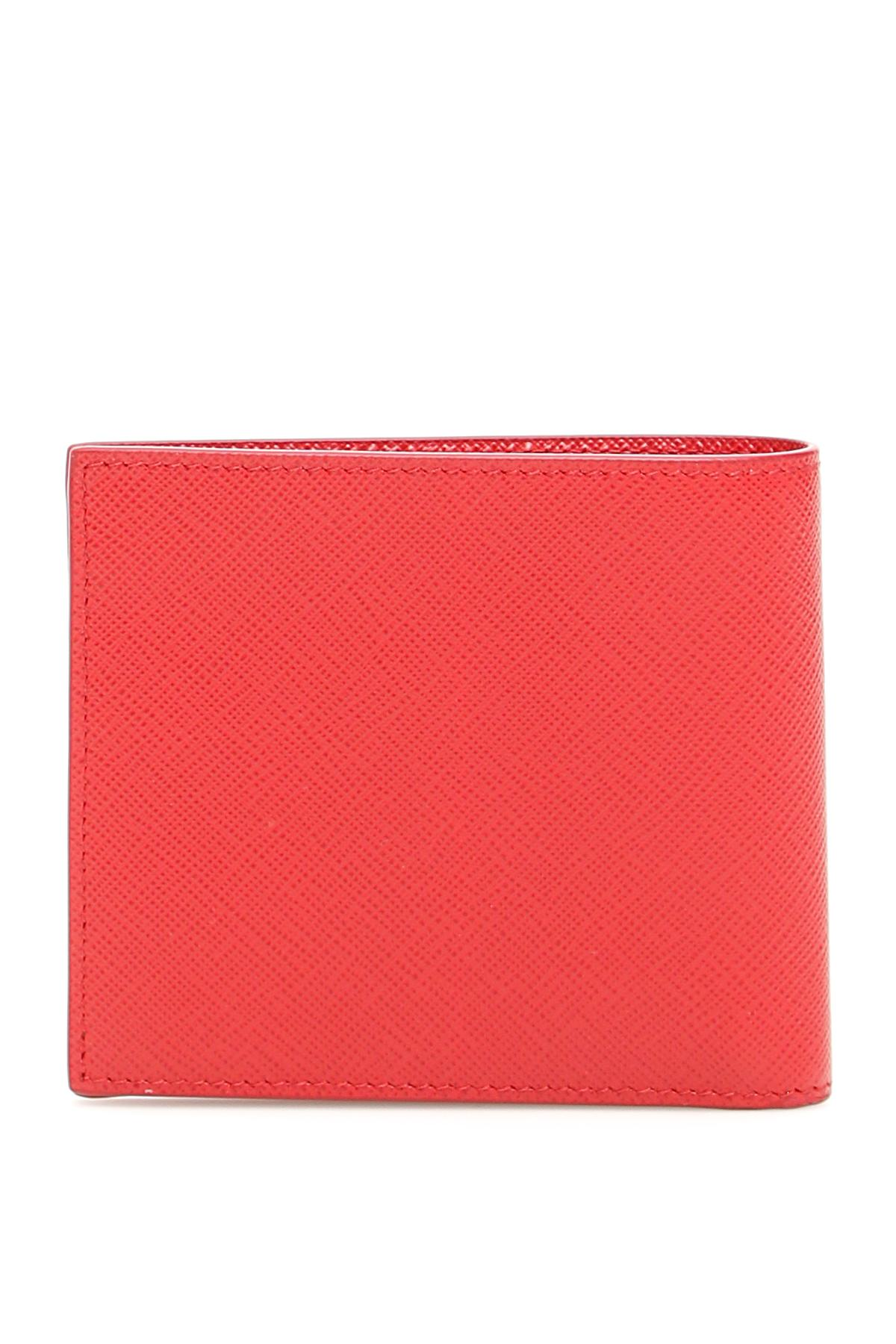 332148278b1e Lyst - Prada Saffiano Wallet With Fish Print in Red for Men