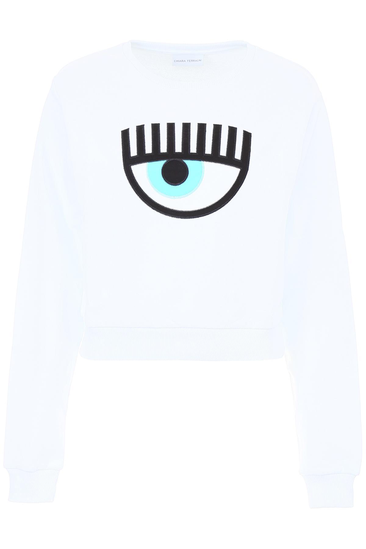 edb3e105 Lyst - Chiara Ferragni Eye Embroidery Sweatshirt