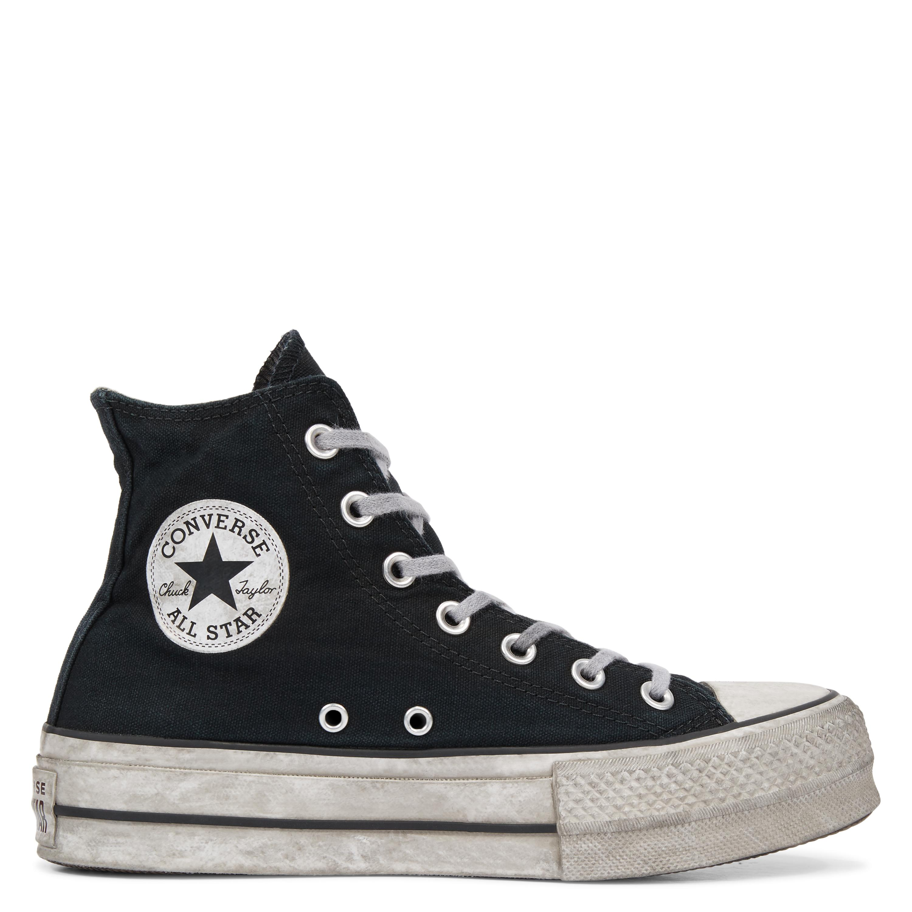 3cd069472ac1 Converse Chuck Taylor All Star Lift Smoked Canvas High Top in Black ...