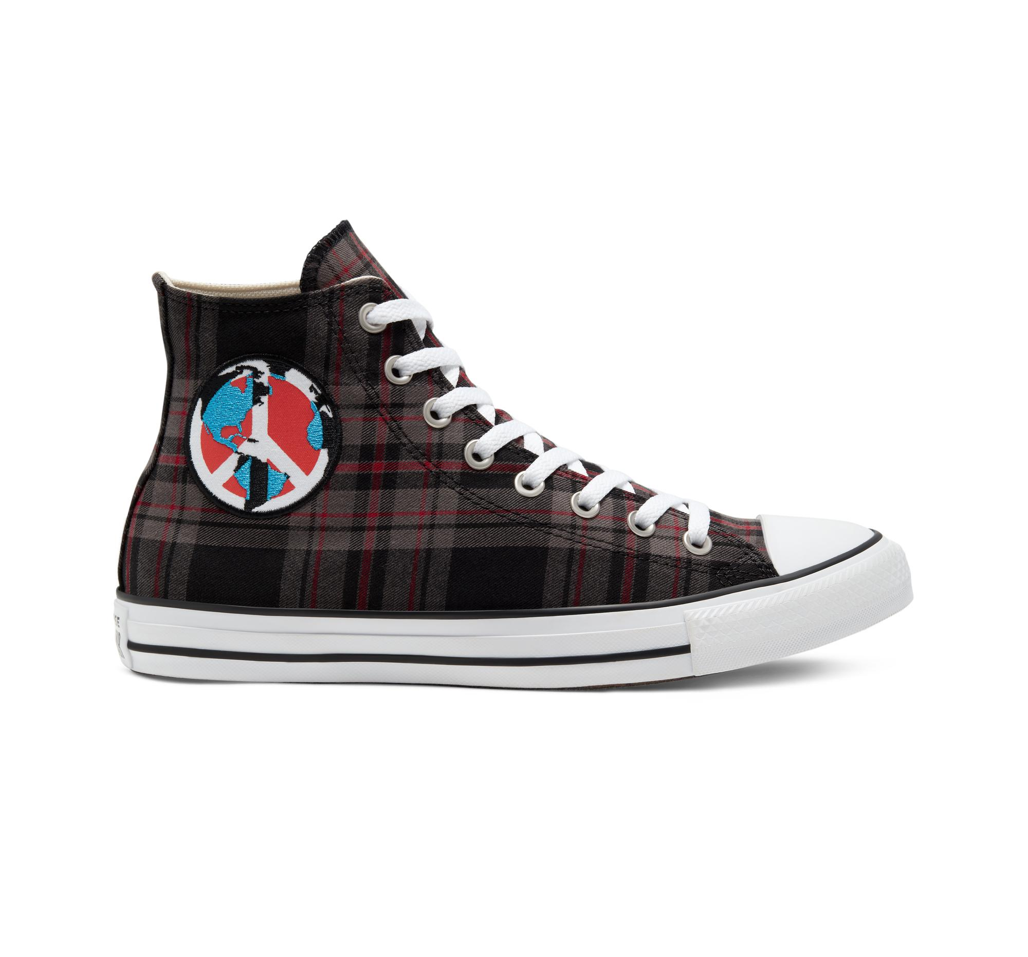 Converse Cotton Plaid Chuck Taylor All Star in Brown - Lyst