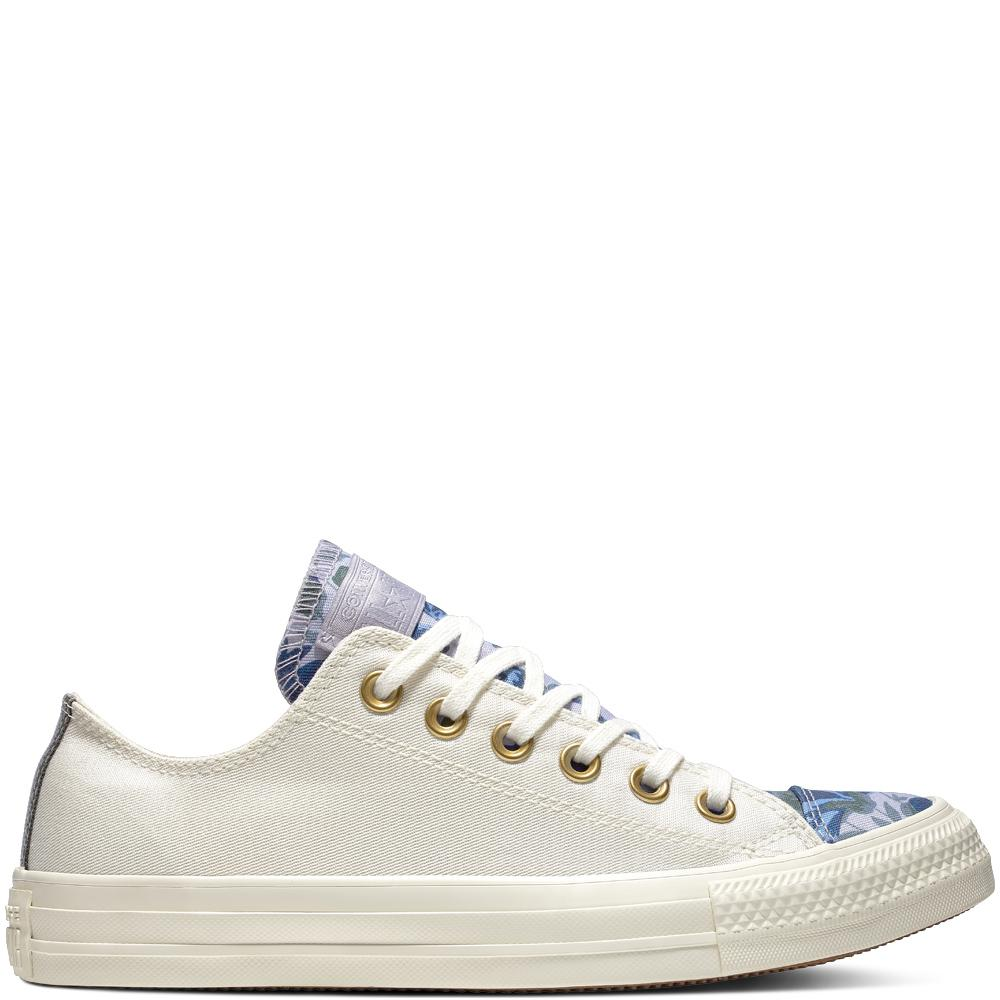 ... 6ccce eca9b Converse Chuck Taylor All Star Parkway Floral Low Top in  Whi new photos ... abca27a765