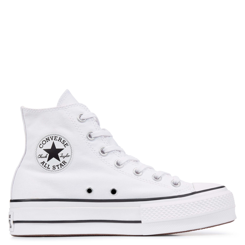 d10e2d61e7cda Converse Chuck Taylor All Star Lift High Top in White - Lyst