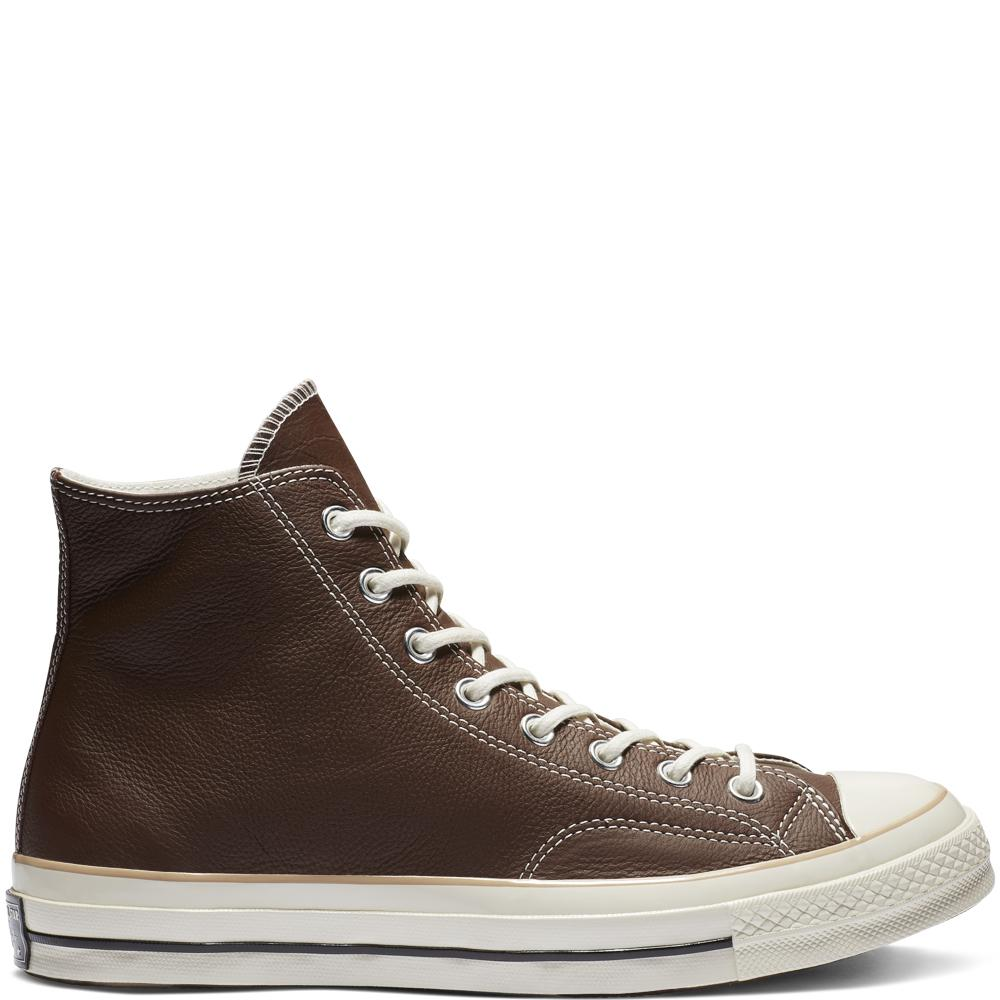7f386a0b426 Converse Chuck 70 Leather High Top in Brown for Men - Lyst