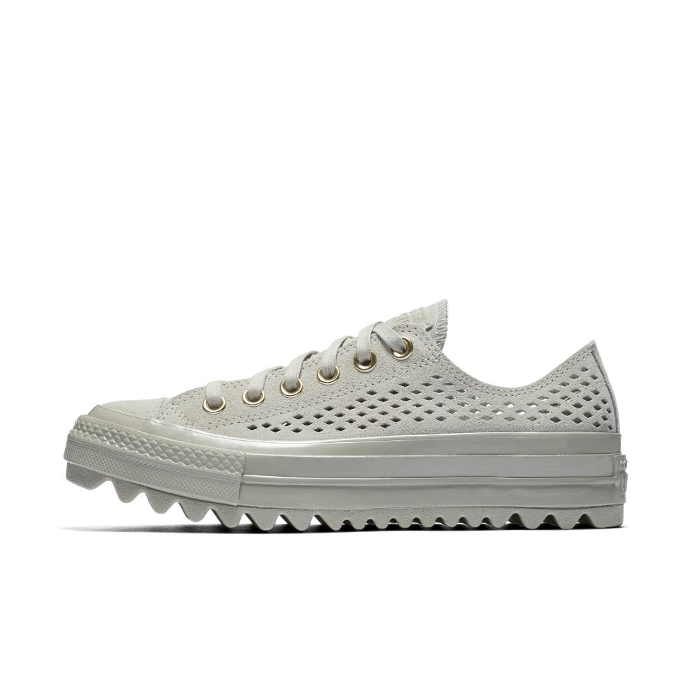 dcd56ac24b01 Lyst - Converse Chuck Taylor All Star Lift Ripple Perforated Suede ...
