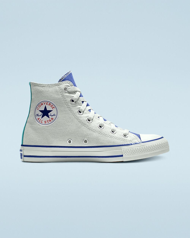 white custom converse