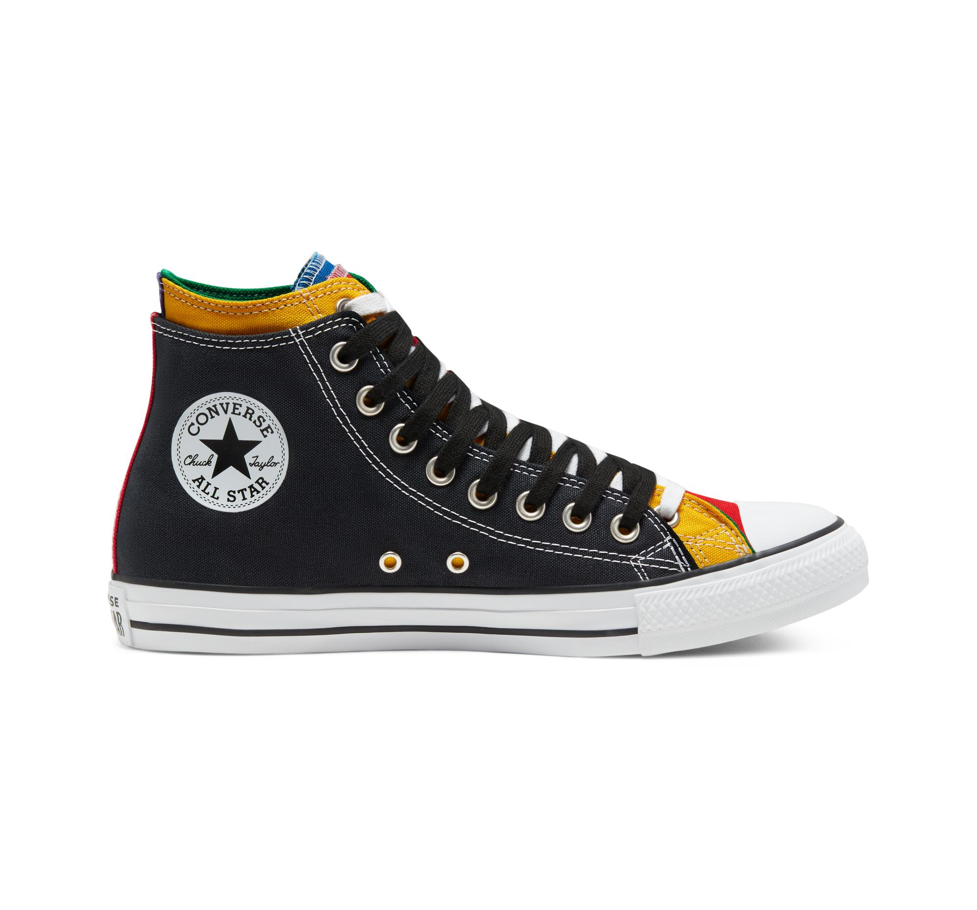 Converse Canvas Double Upper Chuck Taylor All Star in Black for ...