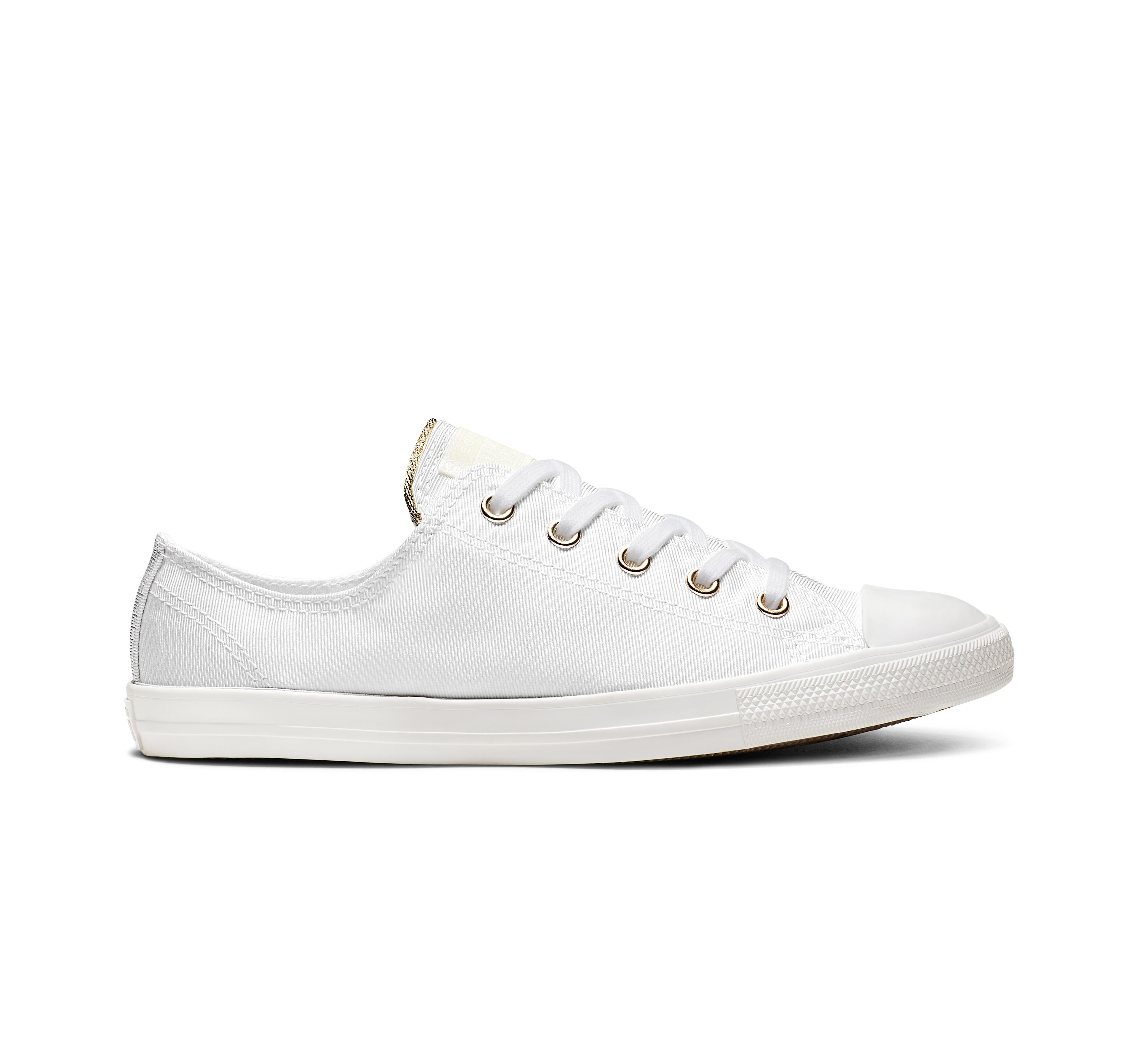 converse bianche basse all star dainty