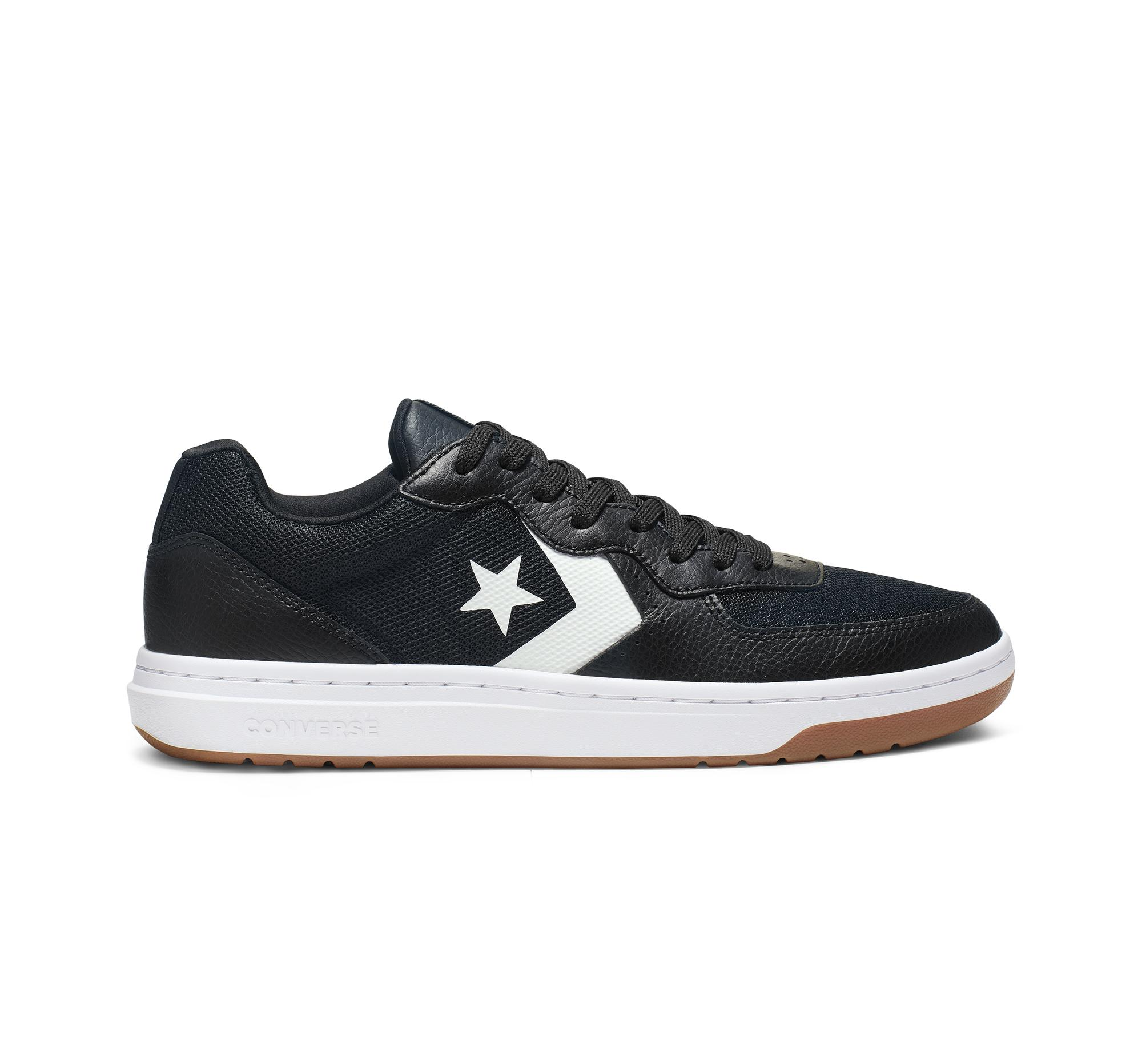 Converse Rival Leather Low Top in Black