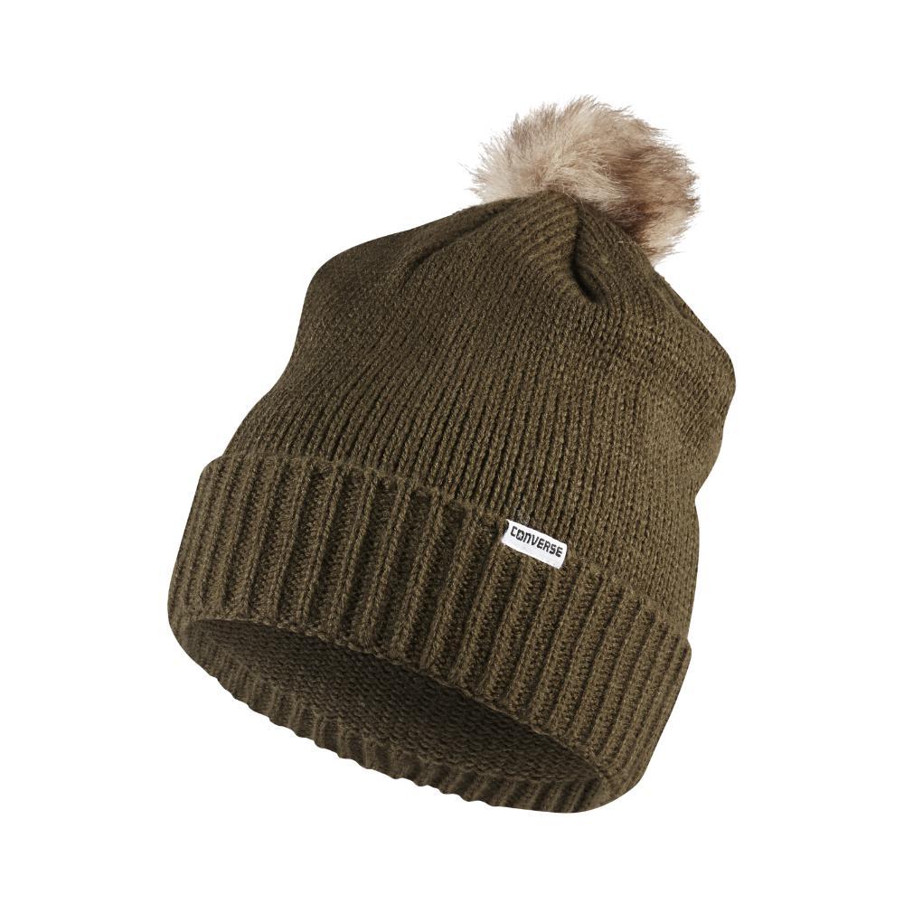 Lyst - Converse Fur Pom Knit Hat (green) in Green for Men 7e95ea273eb
