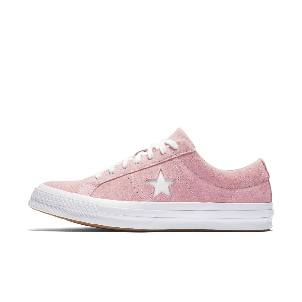 c5a2d7e7686496 Lyst - Converse One Star Classic Suede Low Top Shoe in Pink