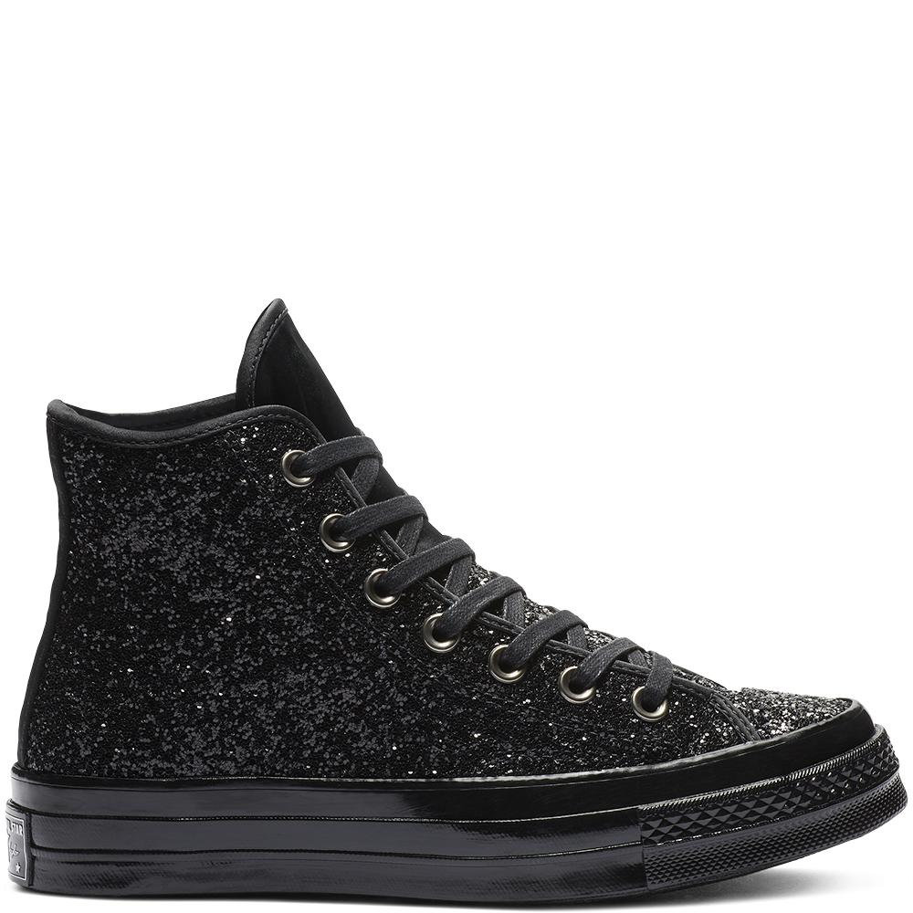 47d053ec8ce Converse Chuck 70 After Party Glitter High Top in Black - Lyst