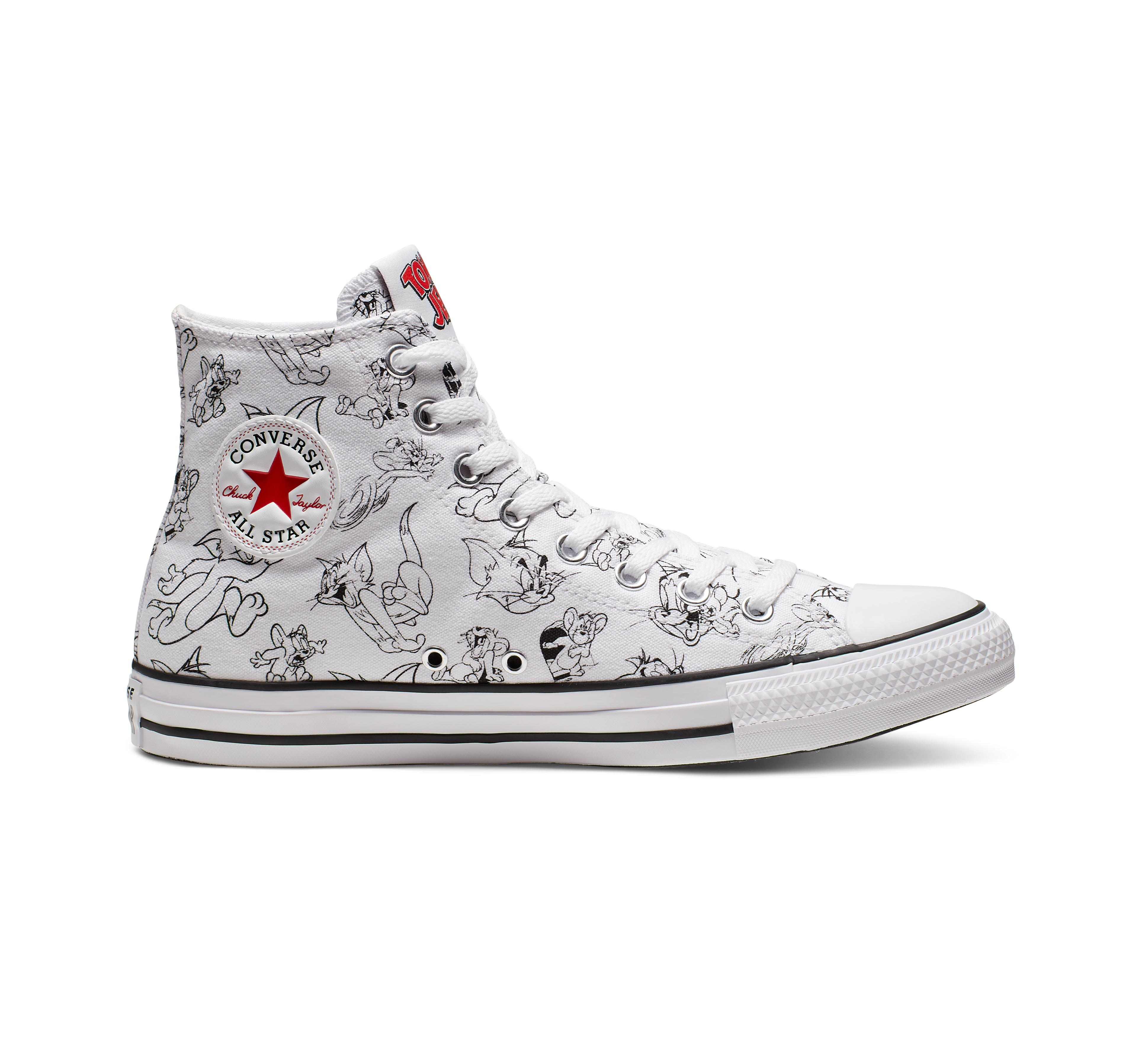 grieta Samuel lento  Converse Tom And Jerry Chuck Taylor All Star High Top in White - Lyst