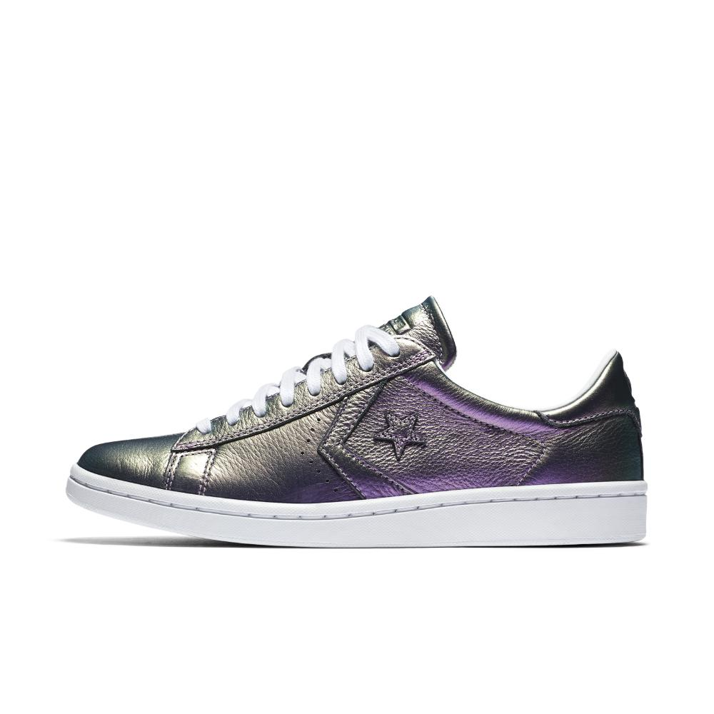fb1e732c74a751 Lyst - Converse Pro Leather Lp Iridescent Leather Low Top Women s ...