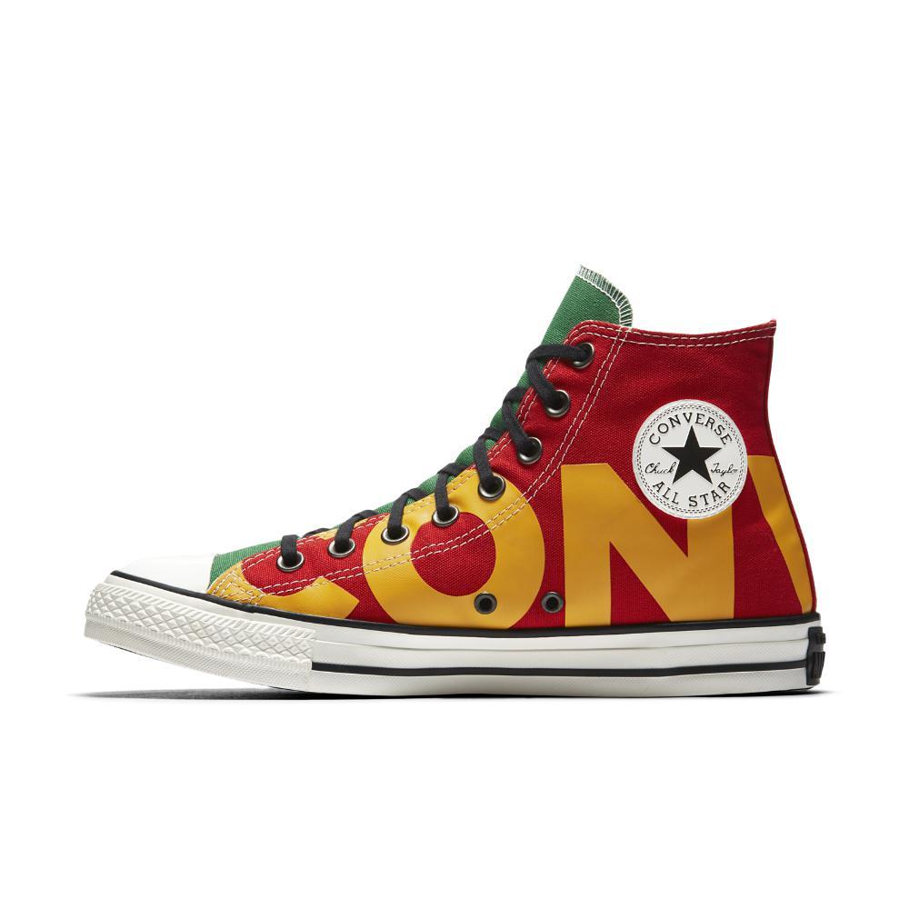 Converse Canvas Chuck Taylor All Star Wordmark High Top Men's Shoe ...