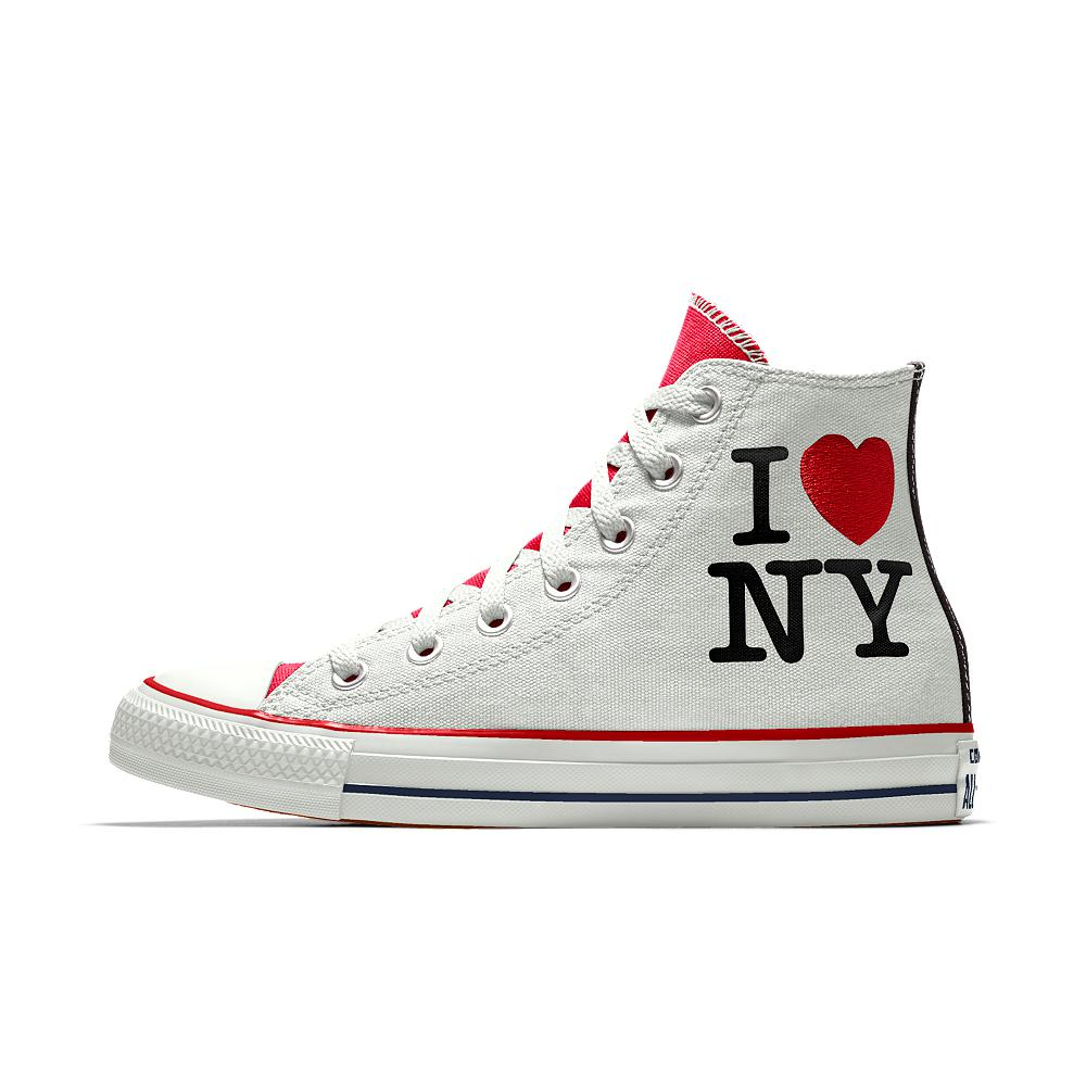cała kolekcja gorąca wyprzedaż sprzedaż uk Custom I Love New York High Top Shoe