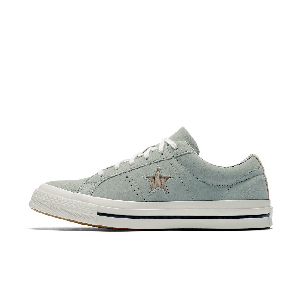 028263d7be5 Lyst - Converse One Star Precious Metal Suede Low Top Women s Shoe ...