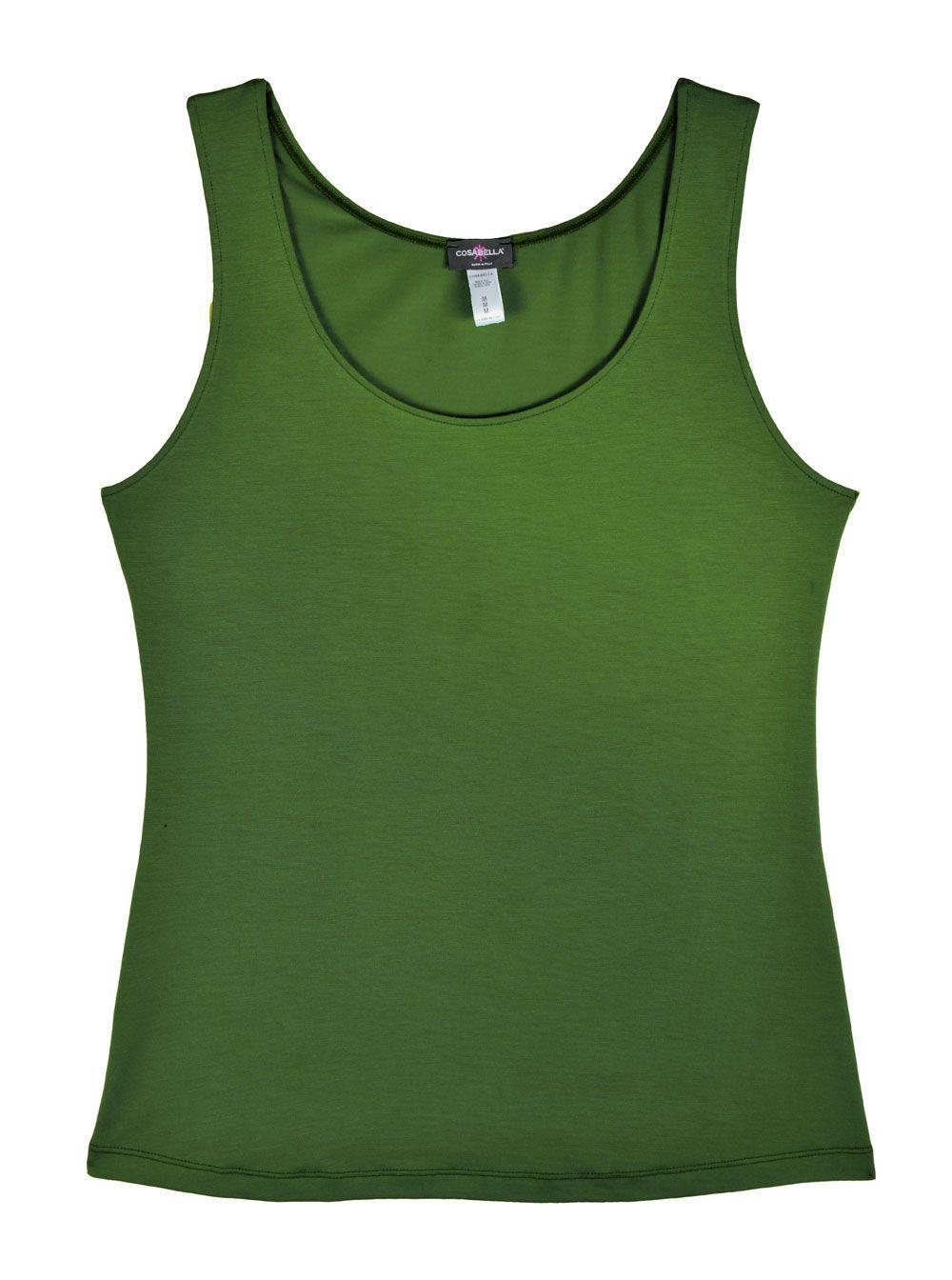 Cosabella Talco Wide Strap Camisole in Green