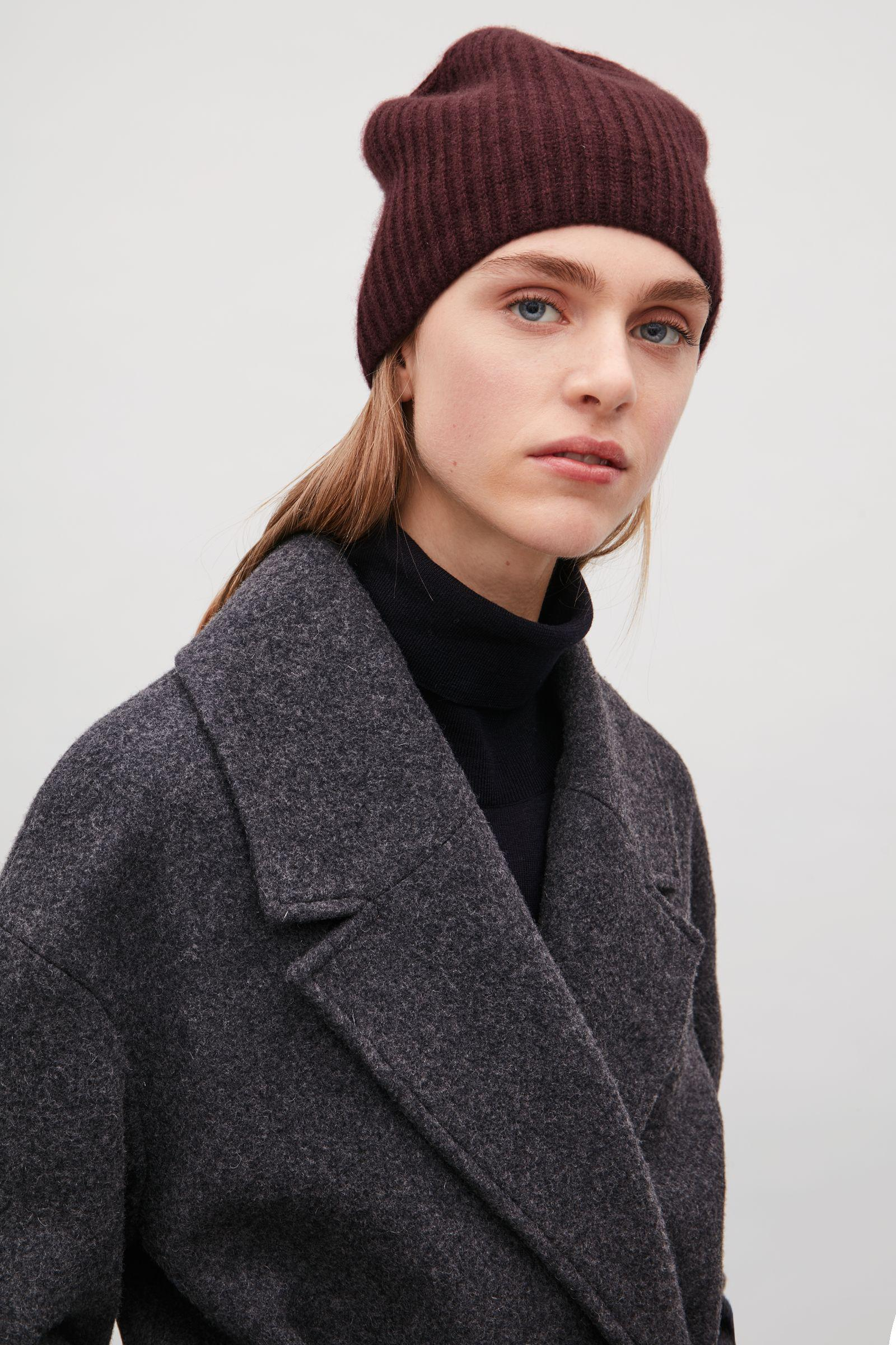 Lyst - COS Ribbed Cashmere Hat 5c7c5b85818