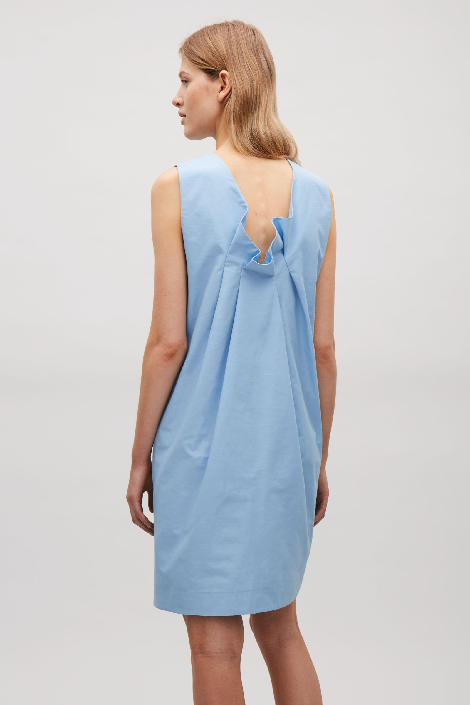 cca32110ea094 Cos Pleated Back Dress in Blue - Lyst