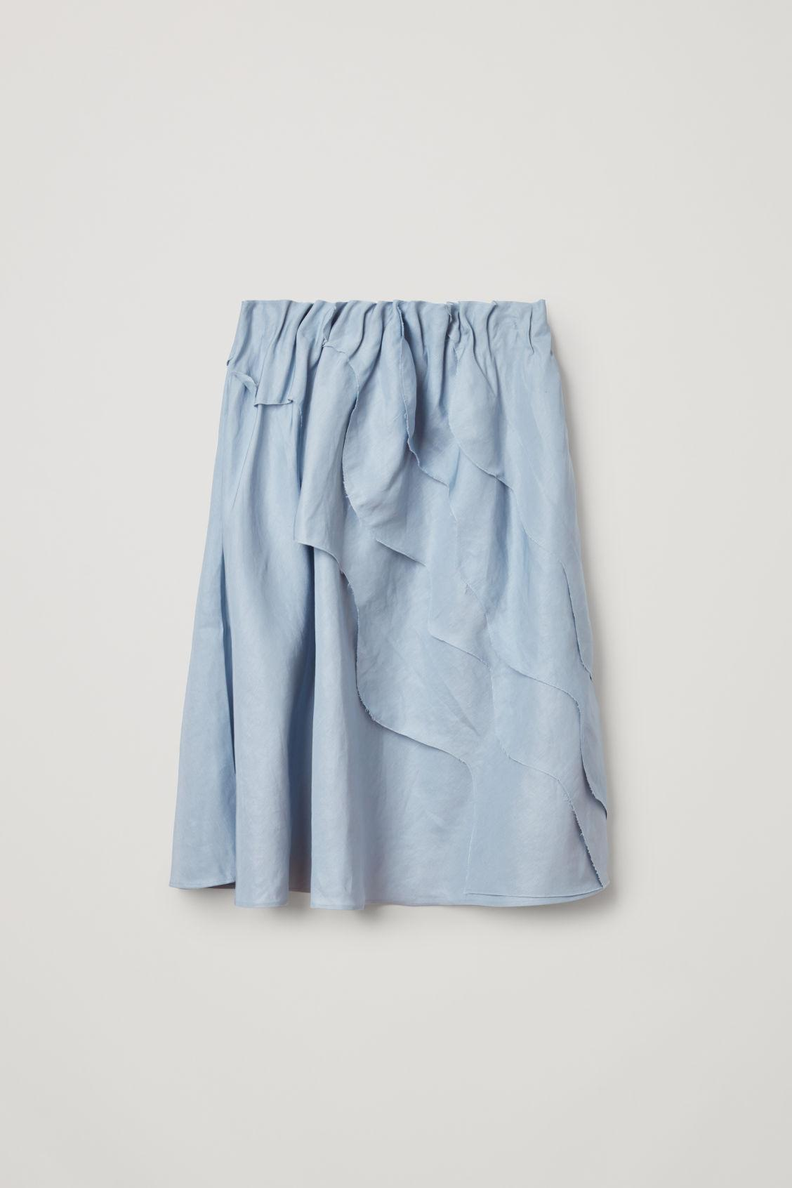 Mixed Textured Ruffle Skirt