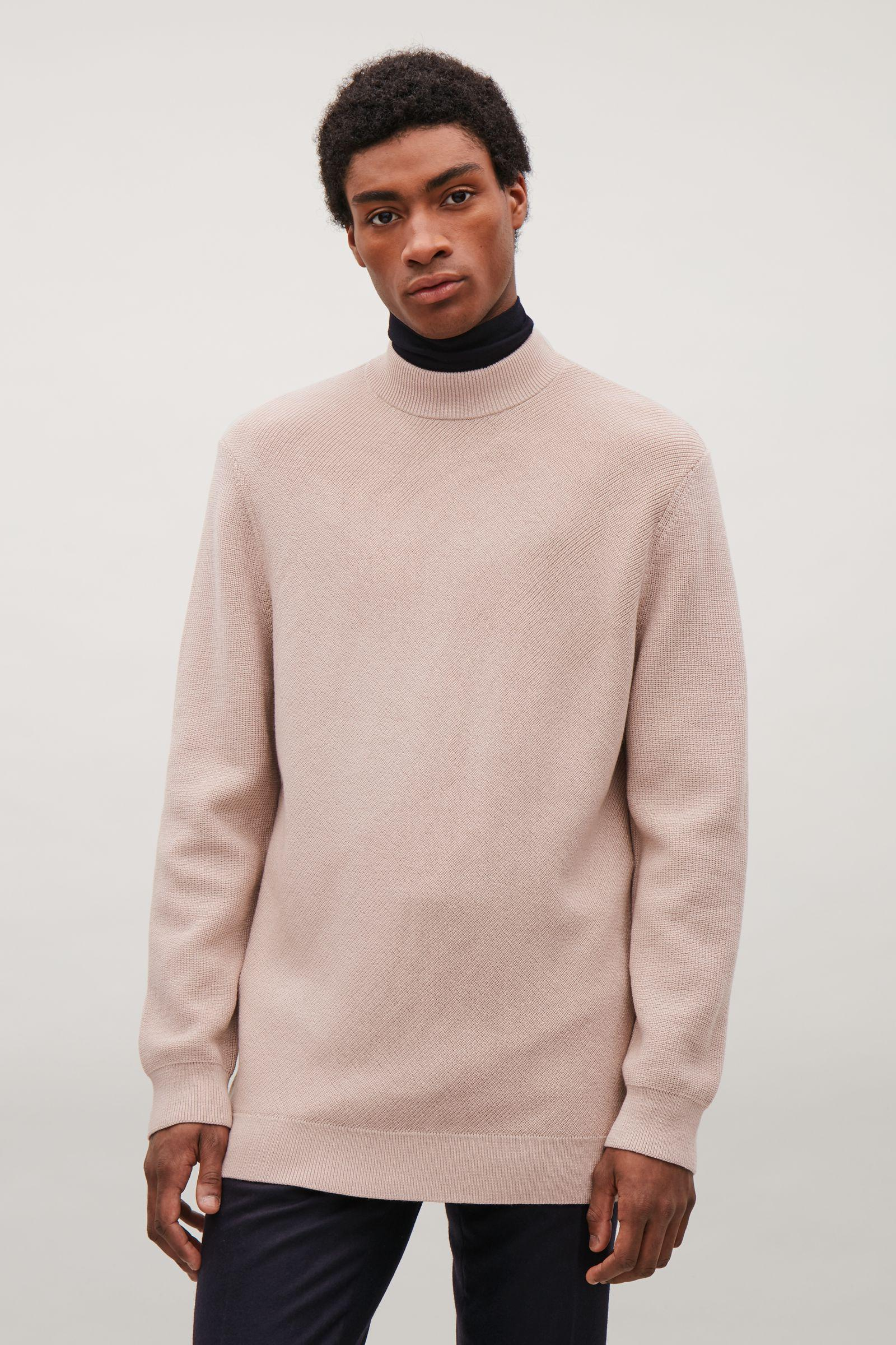 107fe5b9579d COS Diagonal-stitch Wool Jumper in Pink for Men - Lyst