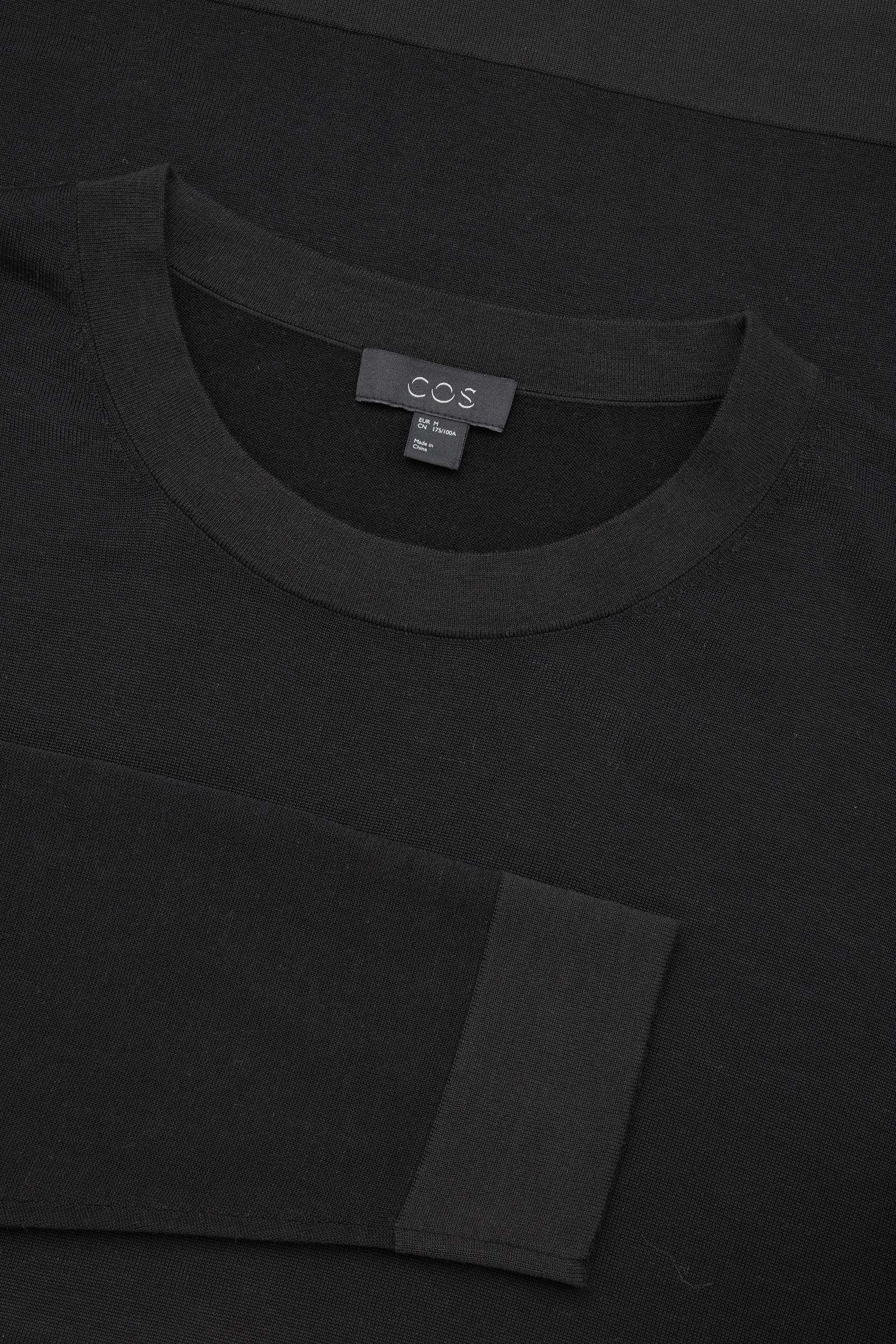 c9d3da76f95 COS Black Fine Silk-merino Jumper for men