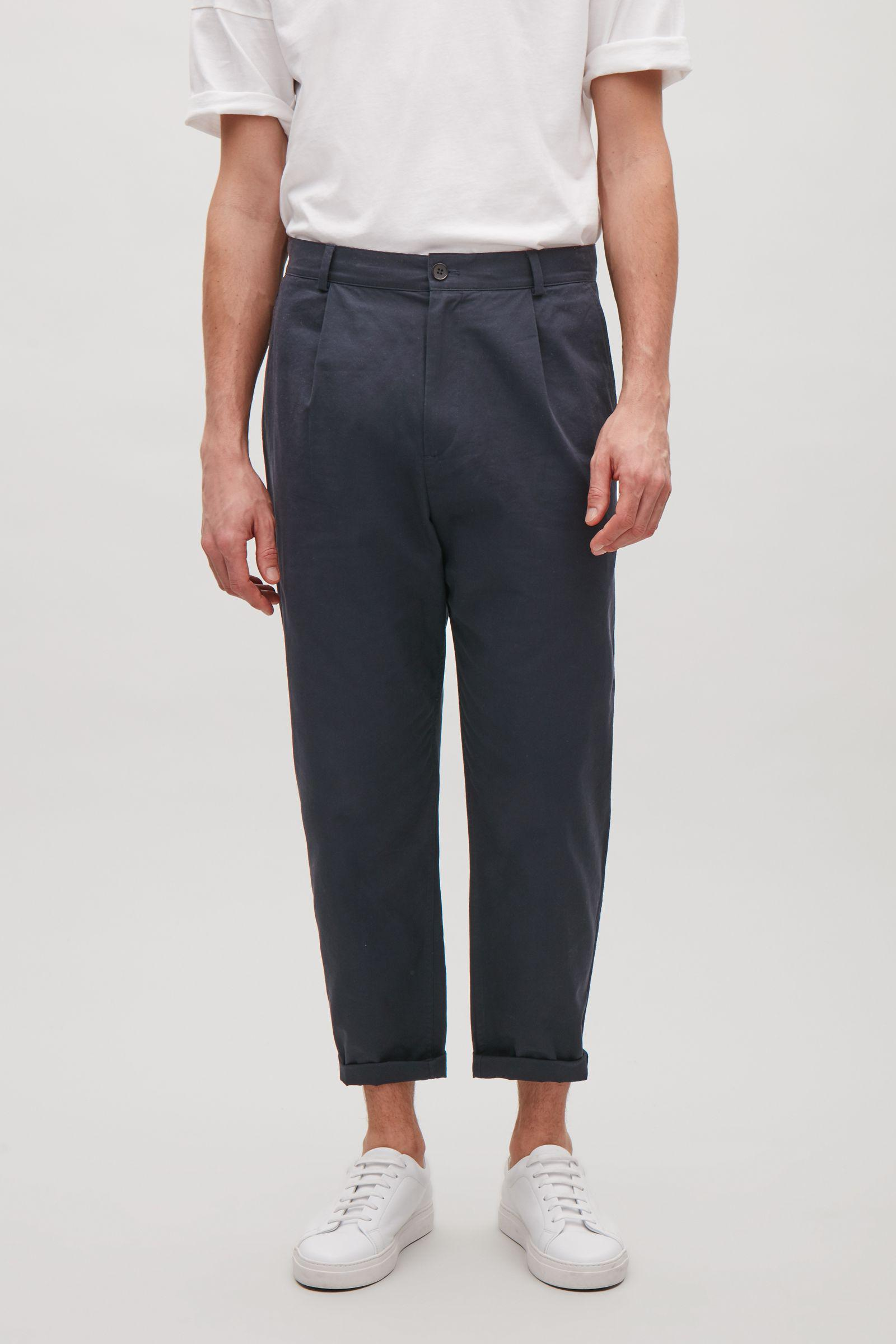 COS Cotton Relaxed Chino Trousers in Indigo (Blue) for Men