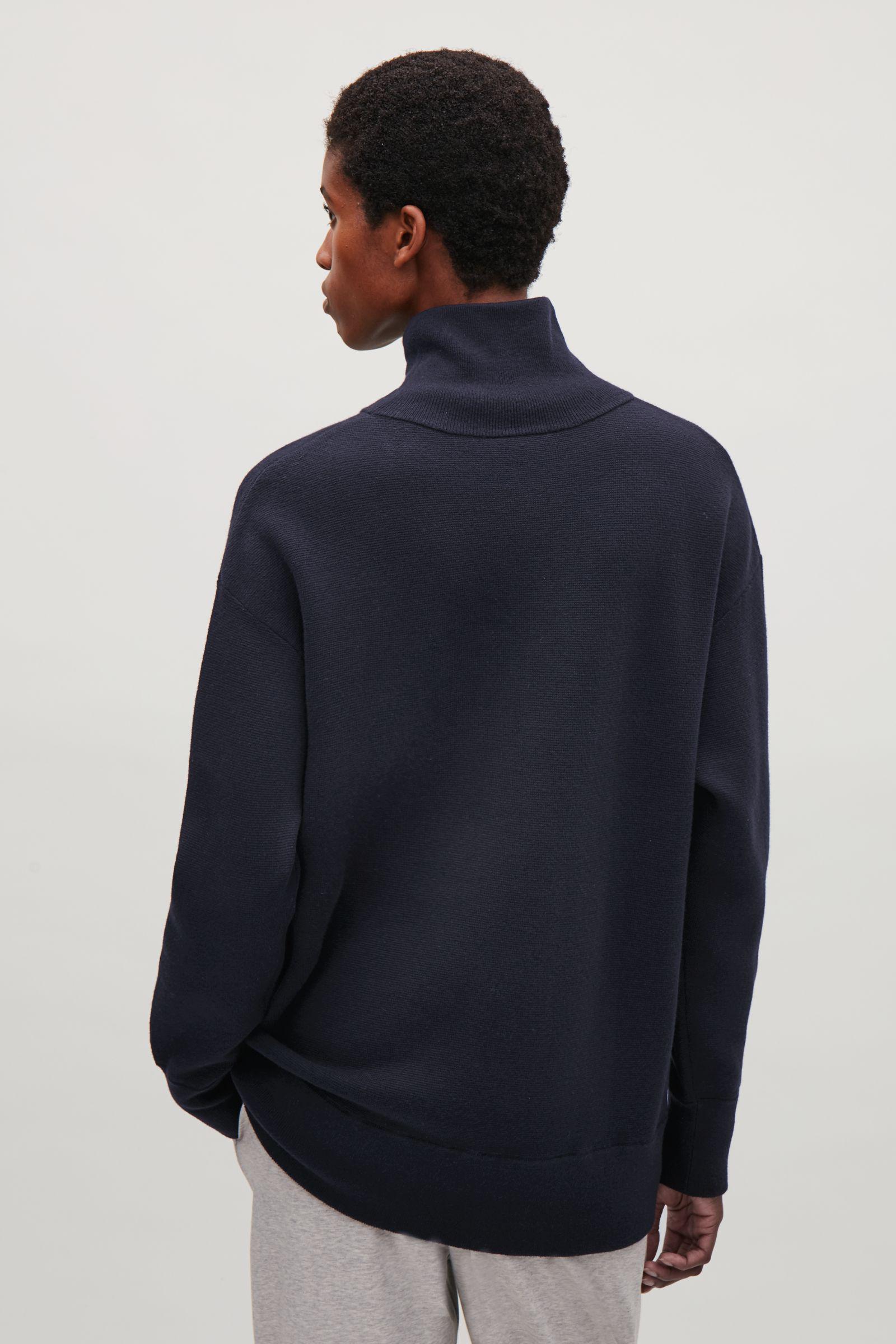 607e3f480 Lyst - COS Oversized Milano Knit Jumper in Blue
