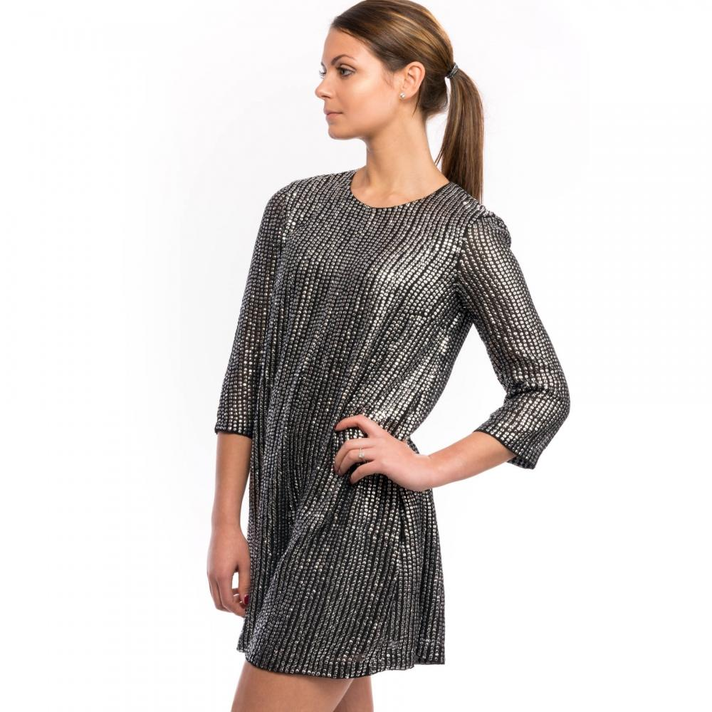 964dc92e4ef French Connection - Black Desiree Disco Embellished Playsuit - Lyst. View  fullscreen