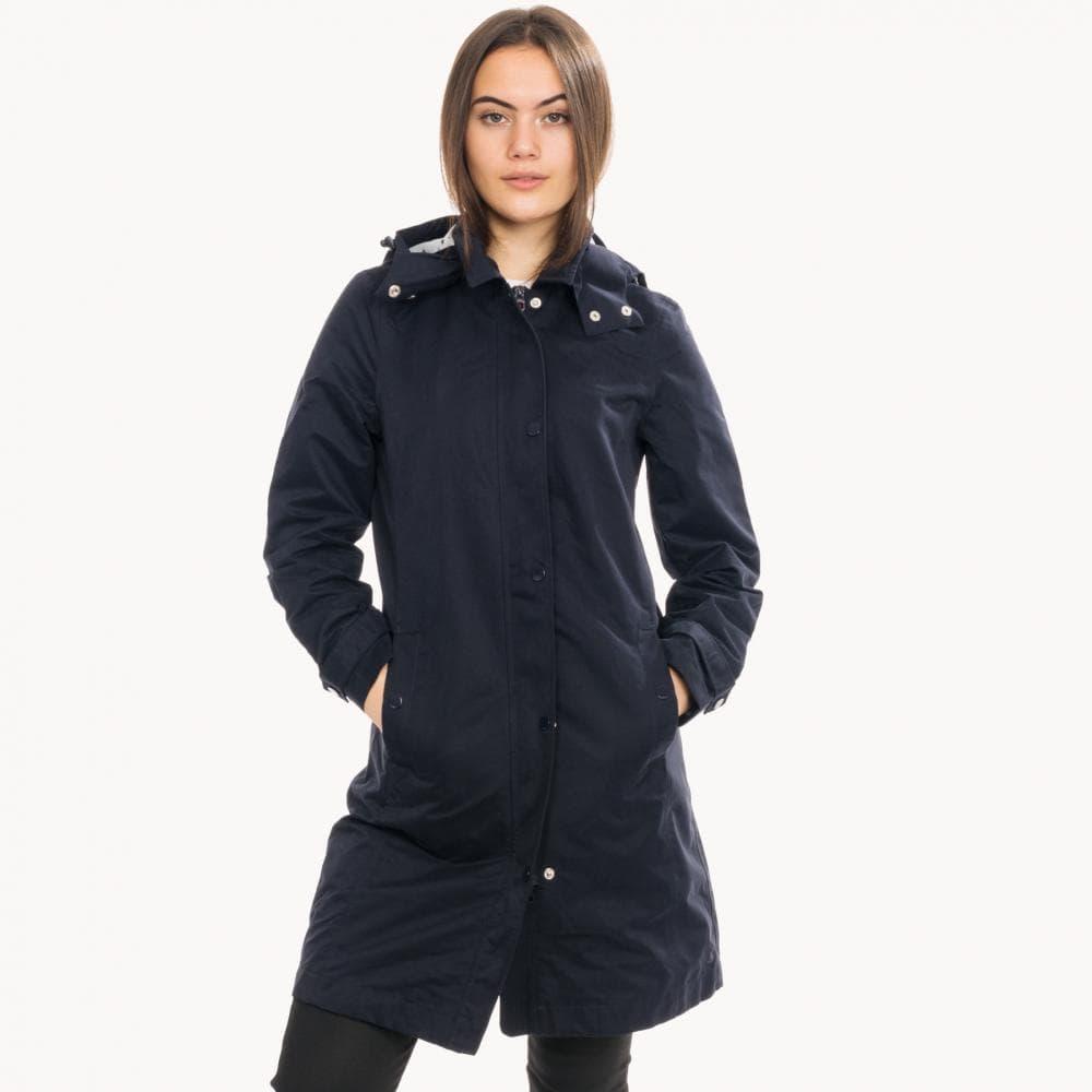 Marine Navy Joules Womens Headland A-Line Raincoat