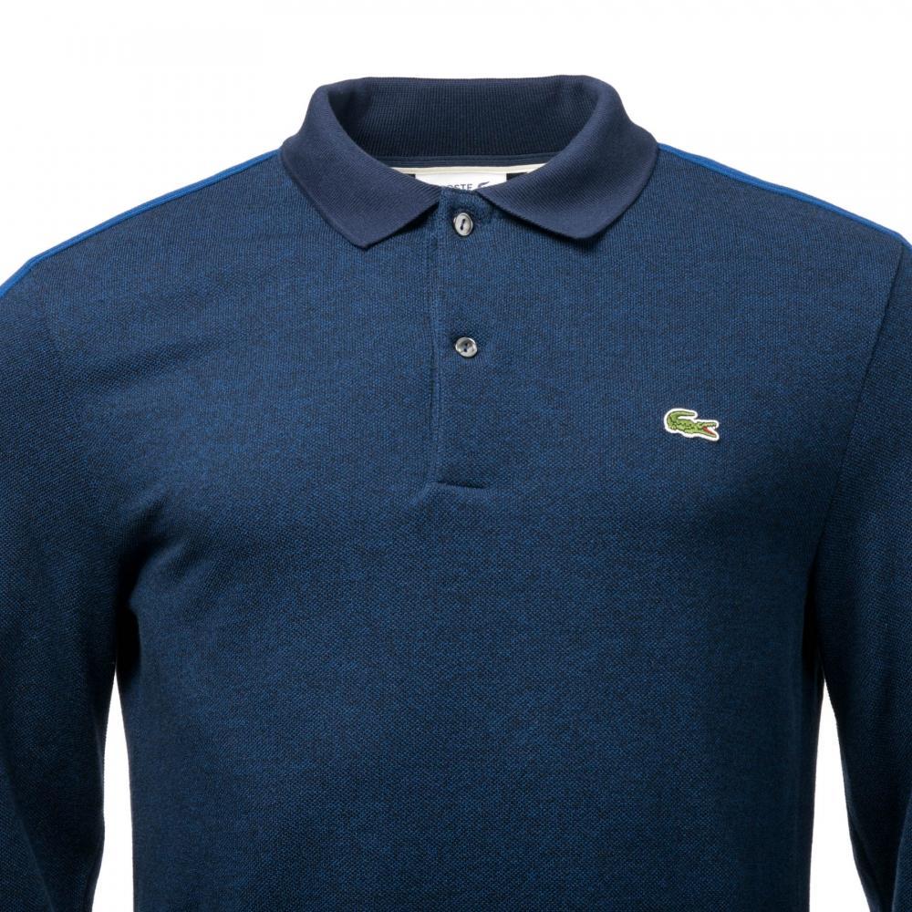 44c12abe239f Lacoste - Blue Mens Long Sleeve Polo Shirt for Men - Lyst. View fullscreen