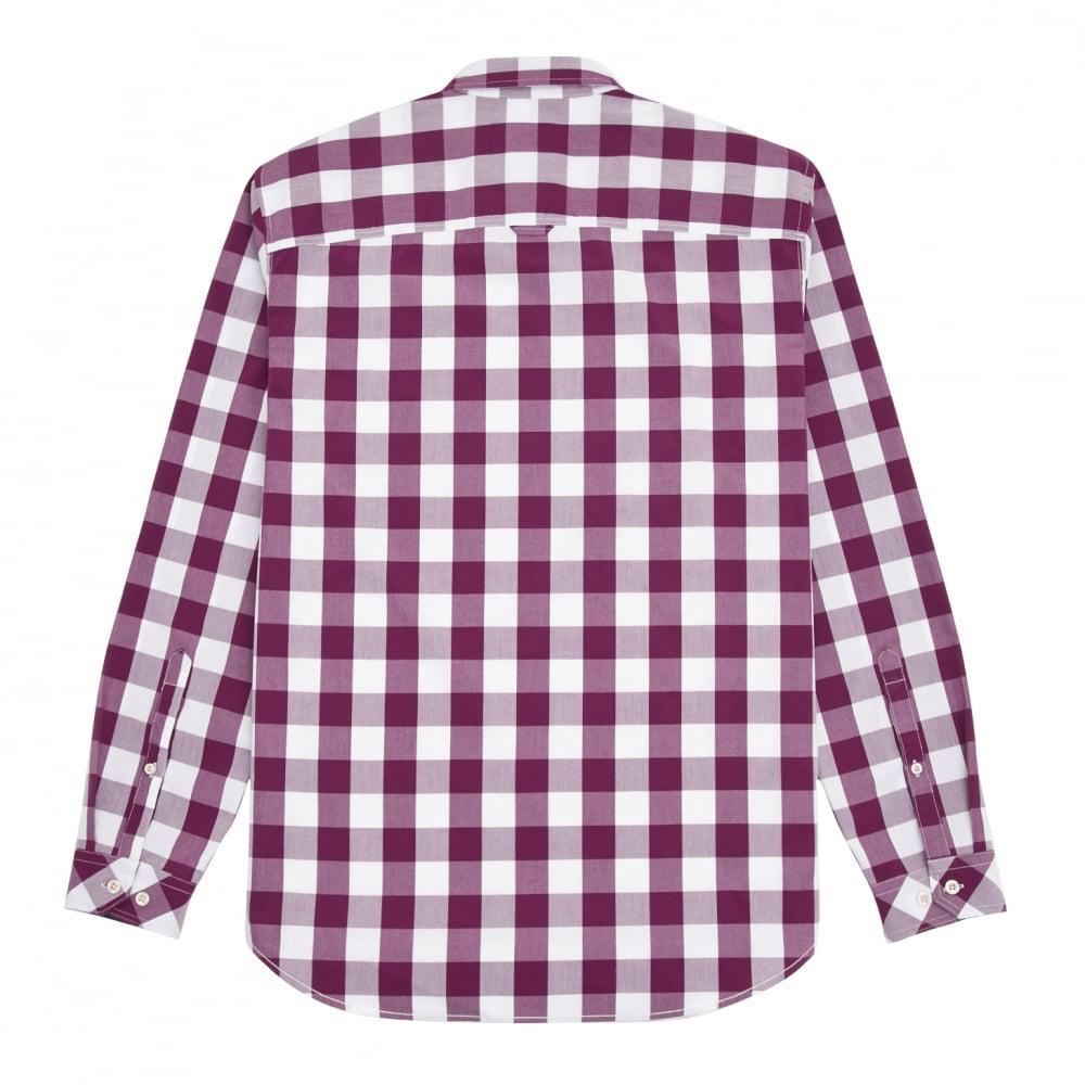 Joules Cotton Hewney Classic Mens Shirt (v) in Dark Purple Gingham (Purple) for Men
