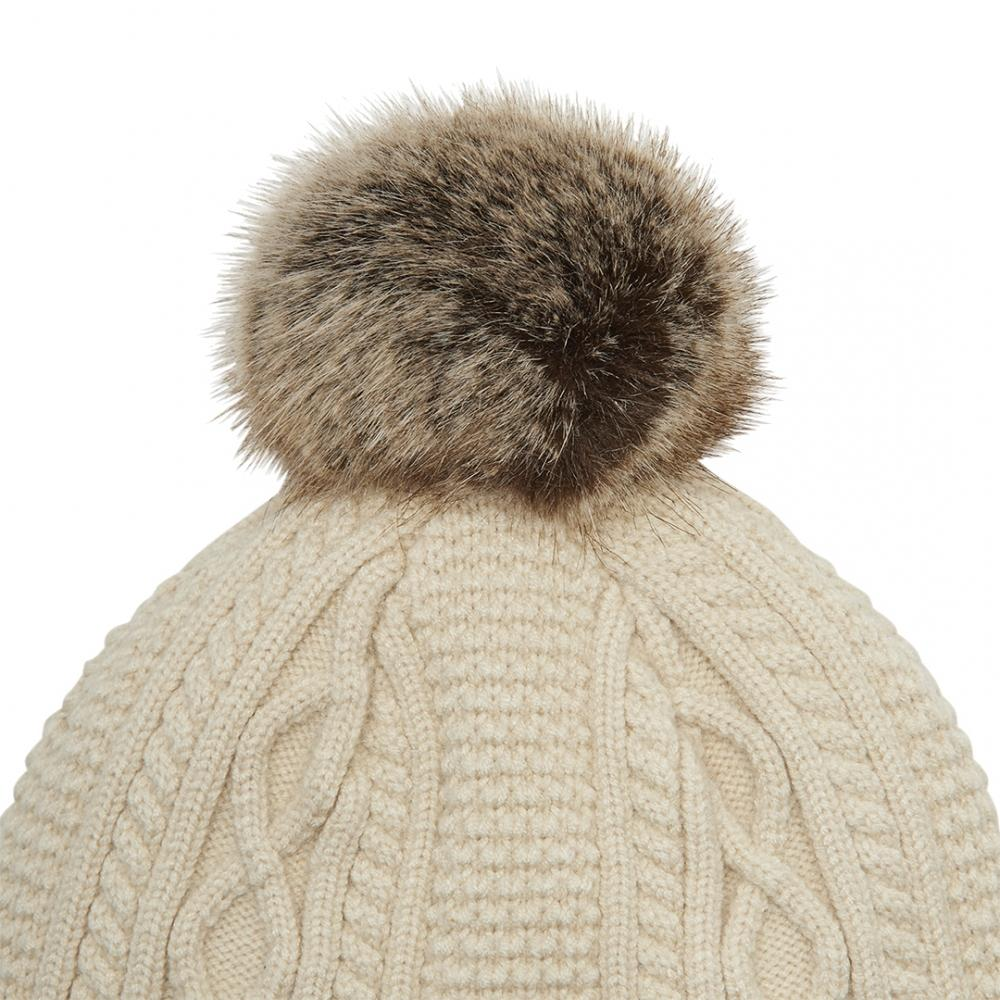 e66529b83 Joules Anya Womens Bobble Hat S/s in Natural - Lyst