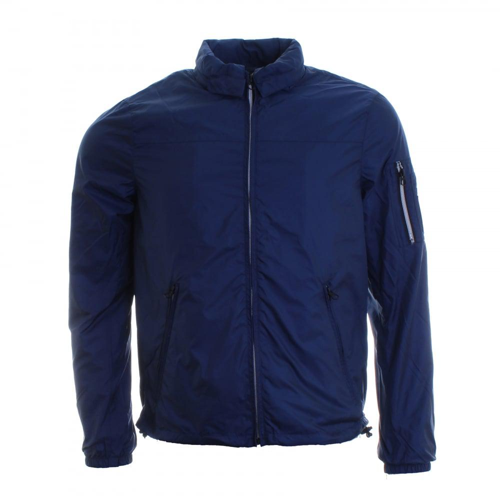 lyst replay hooded mens jacket in blue for men