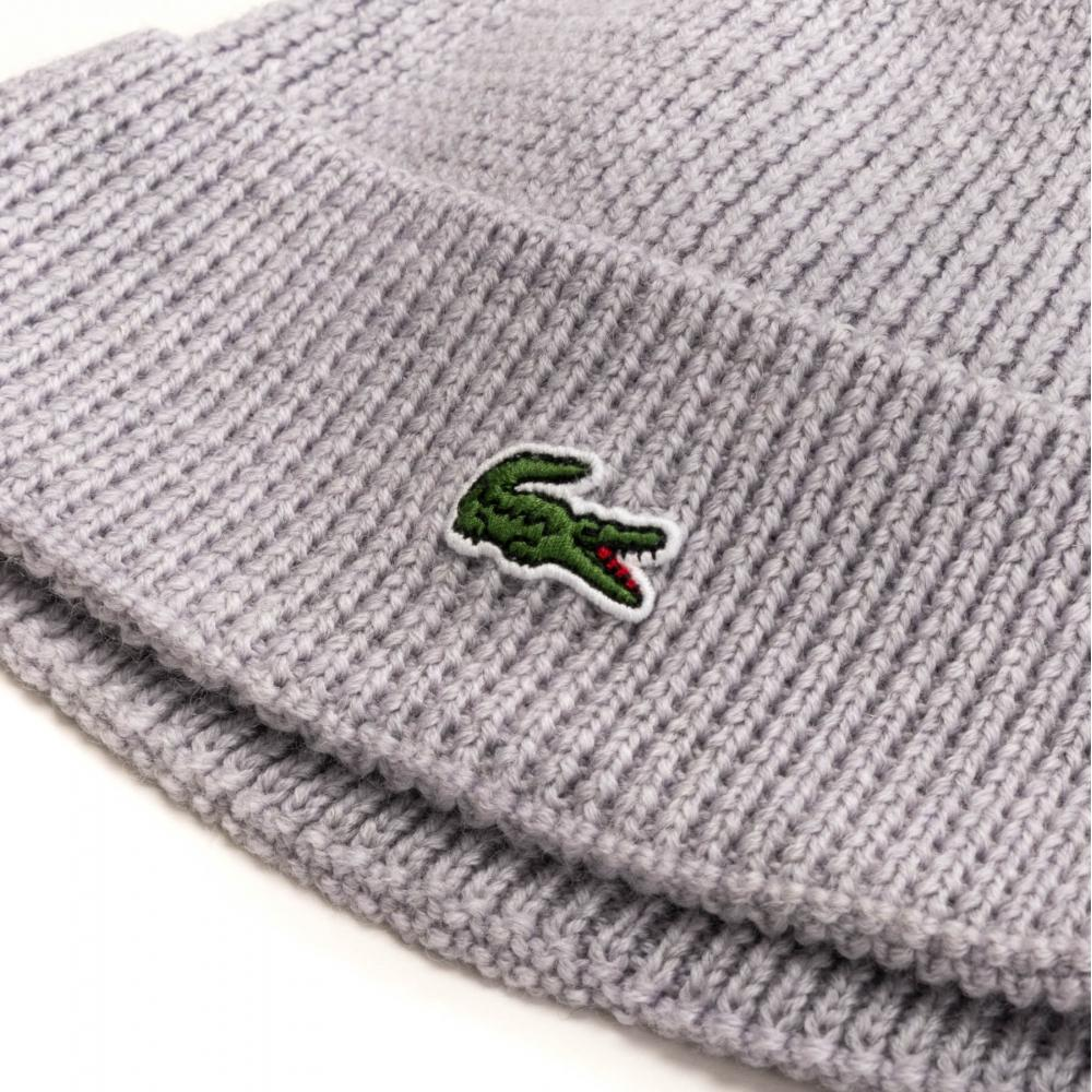 57f109872ce9c Lyst - Lacoste Knitted Rib Mens Cap in Gray for Men