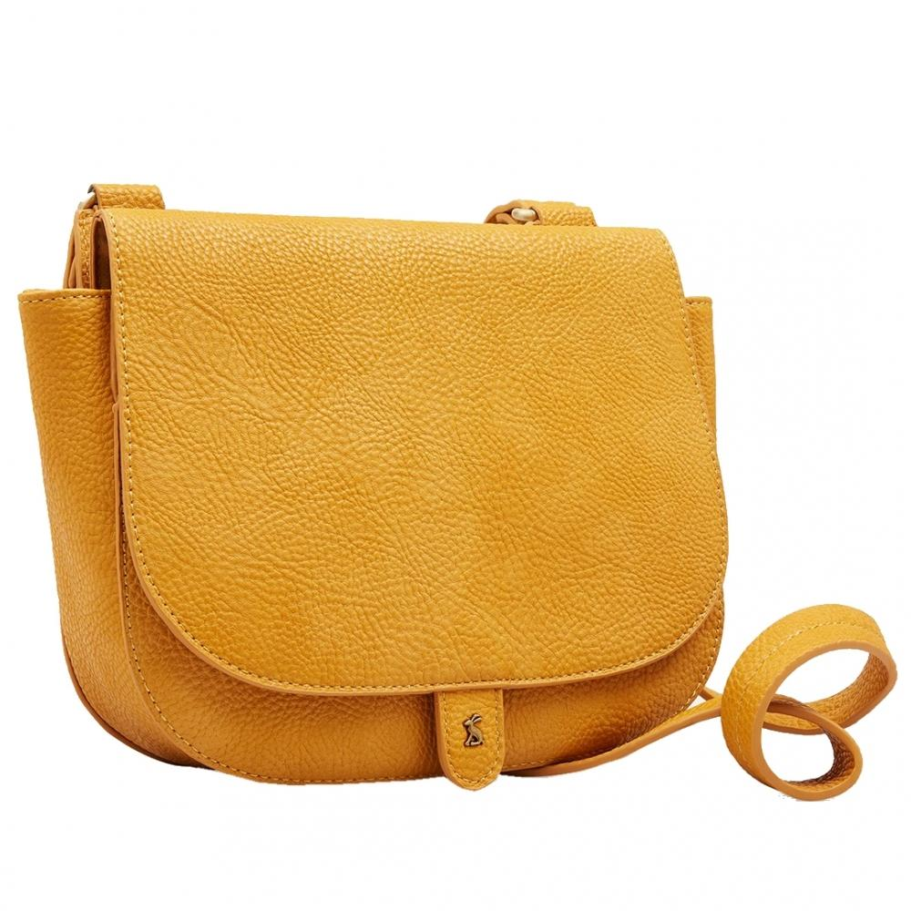 9336677d6583 Lyst - Joules Kelby Bright Womens Tumbled Pu Cross Body Saddle Bag S s