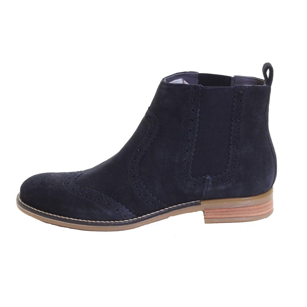 Black Joules Womens Primrose Leather Short Ankle Boot