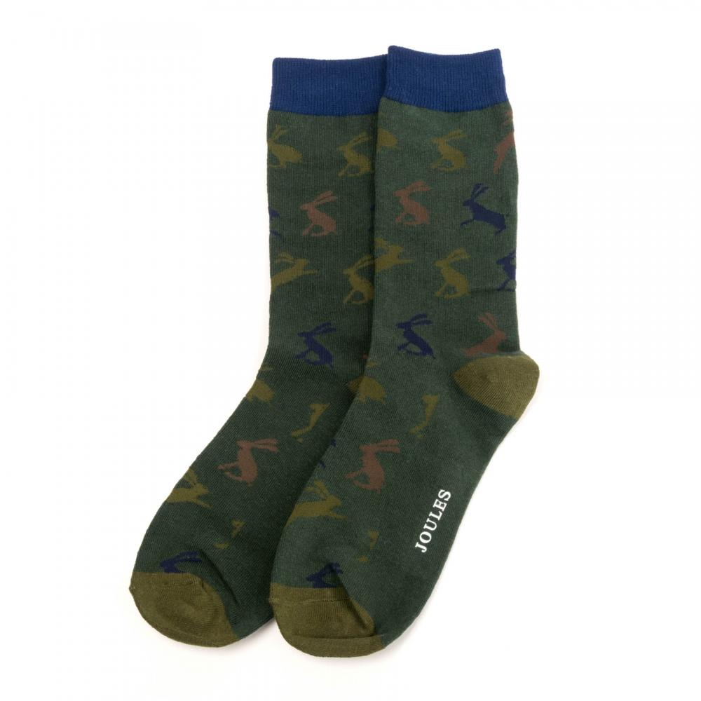 Joules Striking Single Ankle Socks Camo Hare One Size