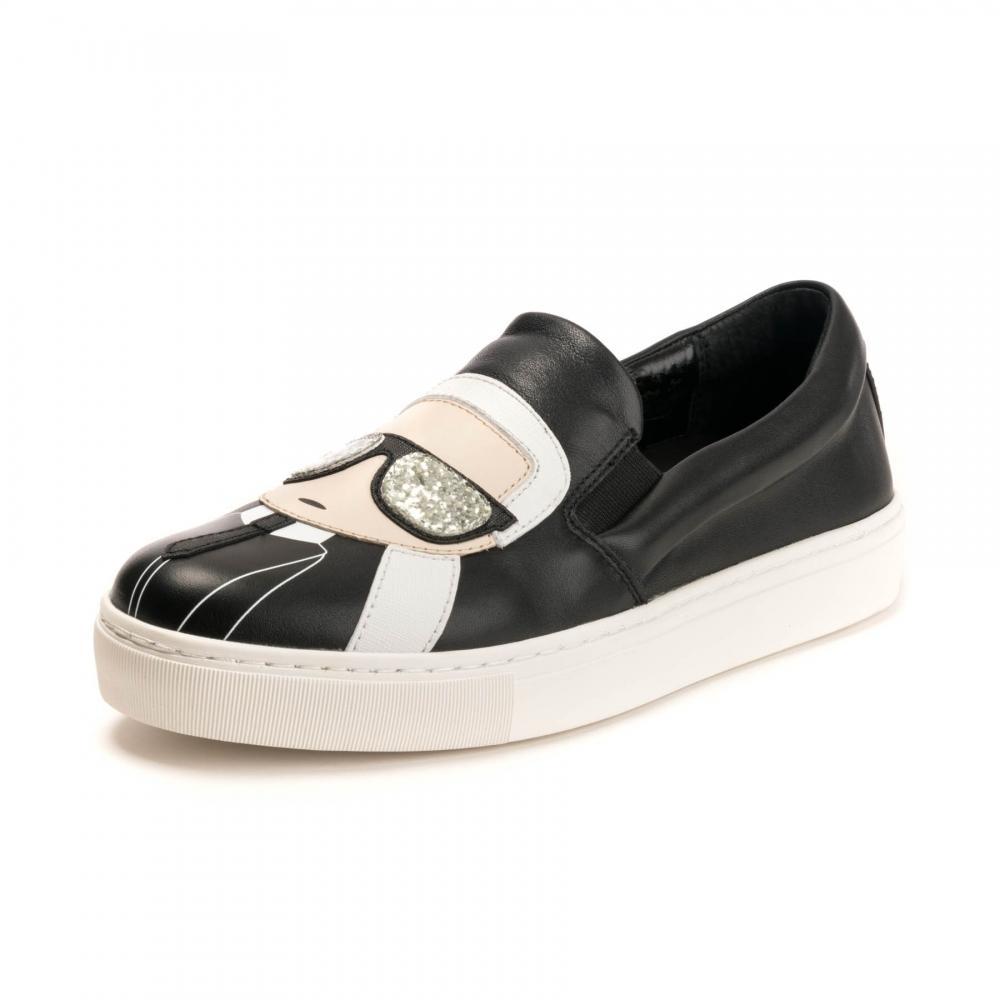 03b00e04f2e Lyst - Karl Lagerfeld Kupsole Karl Ikonik Womens Slip On Shoe in Black