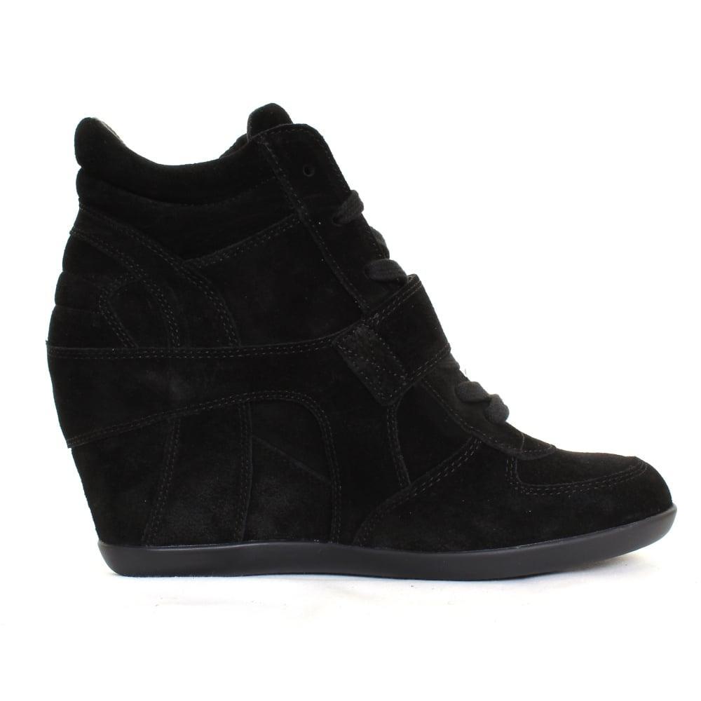 Ash Suede Bowie Ladies Wedge Boot in Black